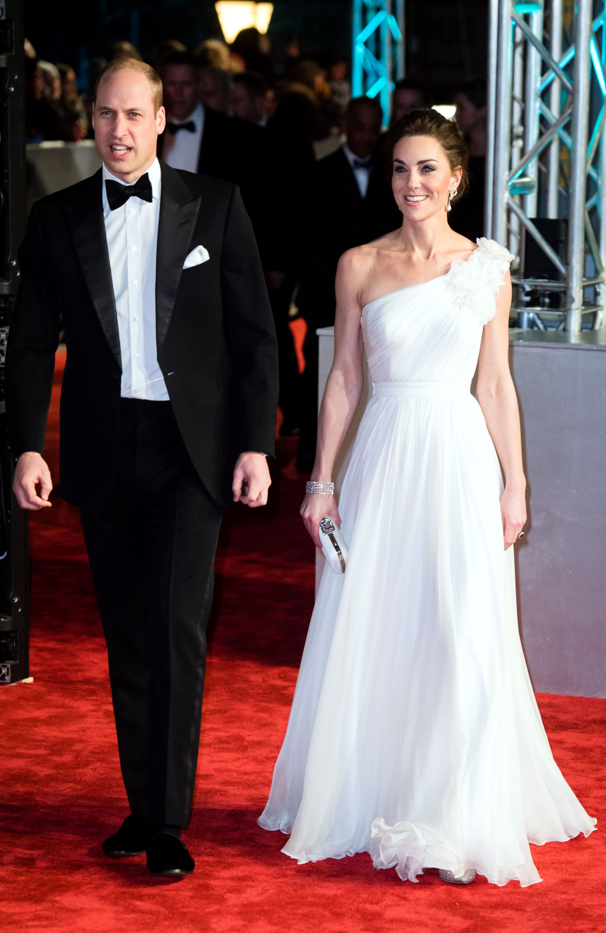 Kate Middleton Stuns at the BAFTAs - Kate wore a stunning diamond bracelet that she borrowed from the queen.