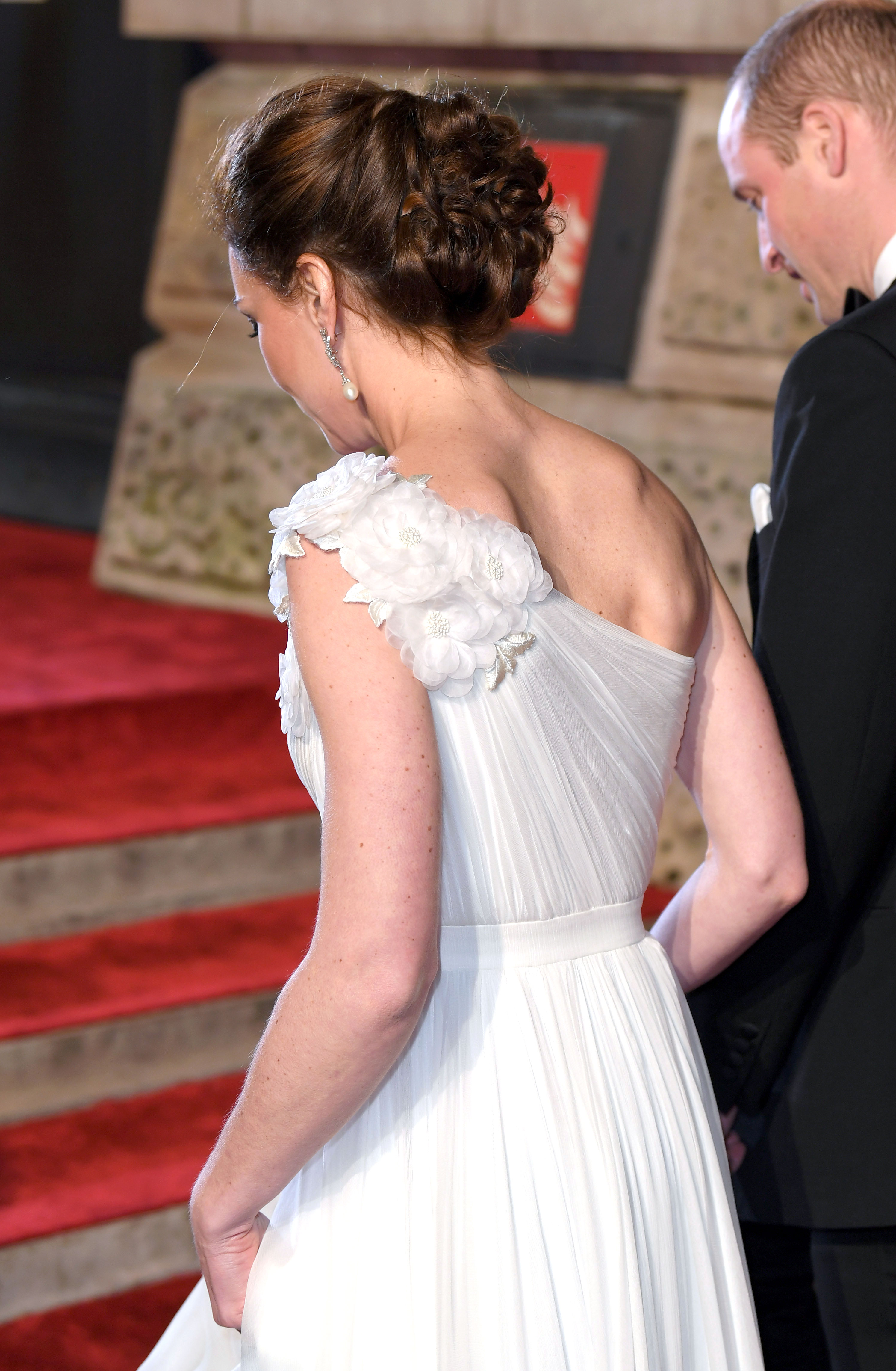 Kate Middleton Stuns at the BAFTAs - The Duchess of Cambridge wore her hair up in an intricate updo.