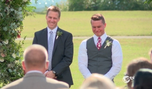 Kelton Balka Cries as Wife Josie Bates Walks Down the Aisle