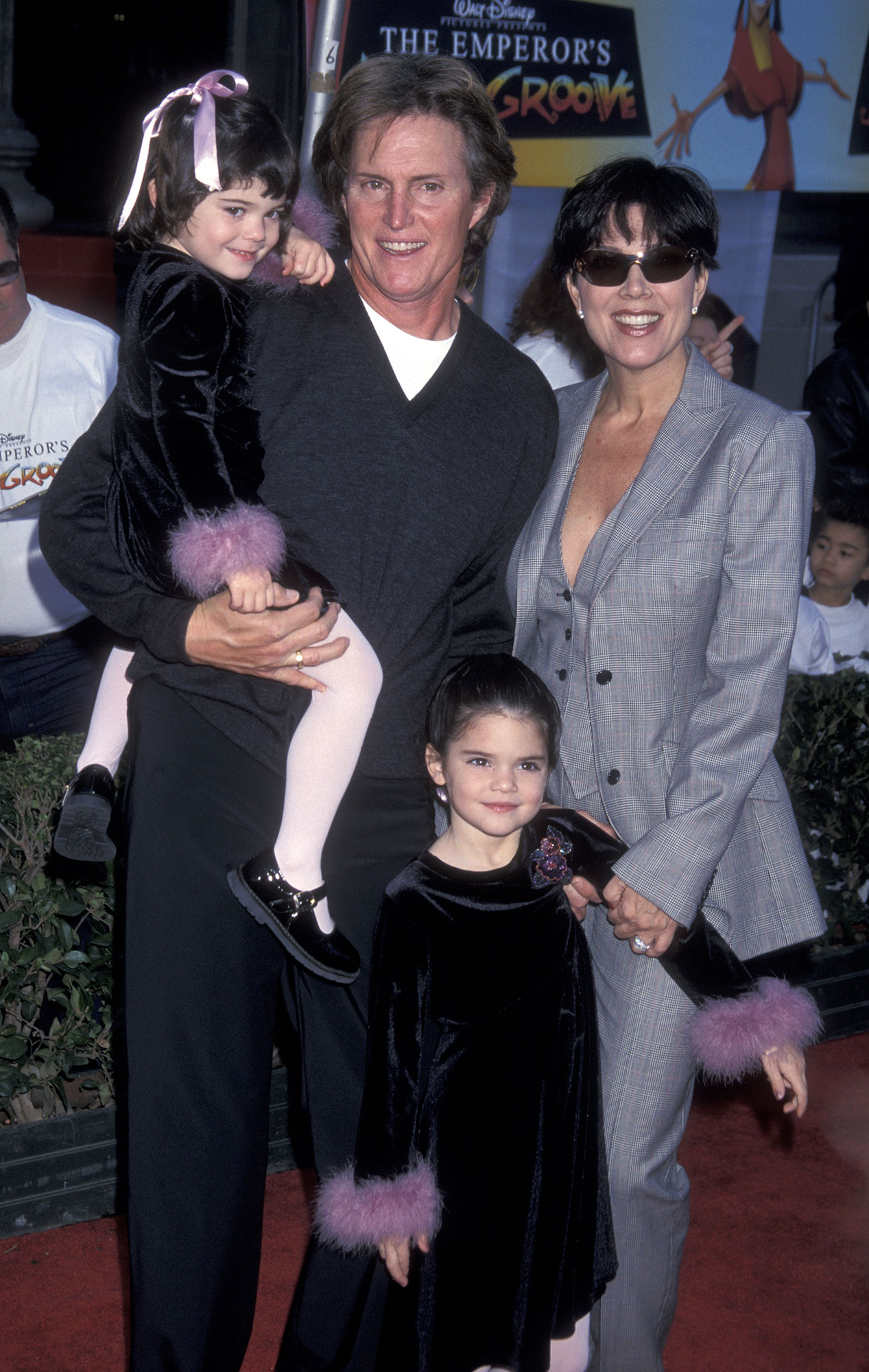 Kendall Jenner through the years - Kendall and younger sis Kylie both attended the Emperor's New Groove premiere with their parents in 2000.