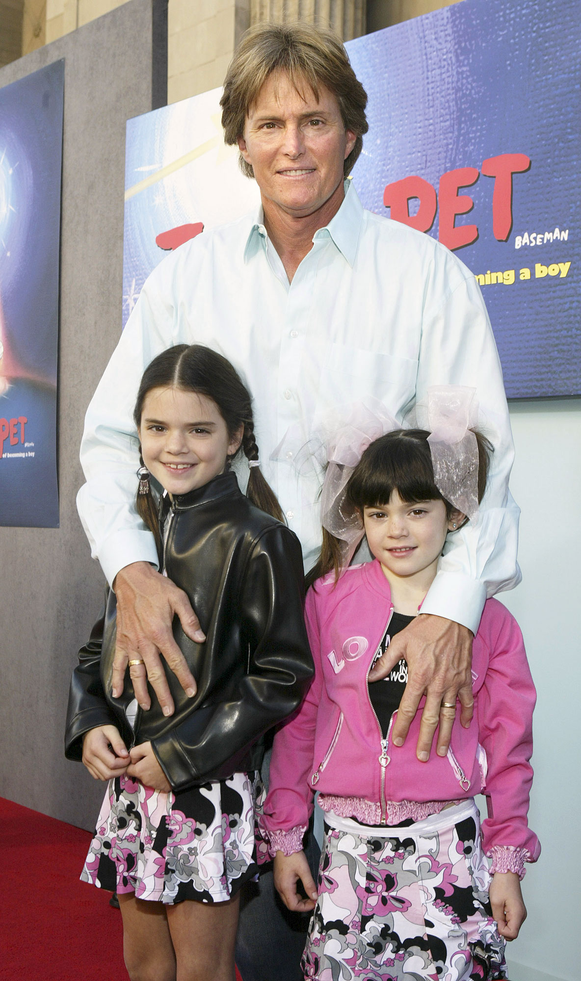 Kendall Jenner through the years - In 2004, Kendall and Kylie wore matching skirts to the Hollywood premiere of Teacher's Pet .