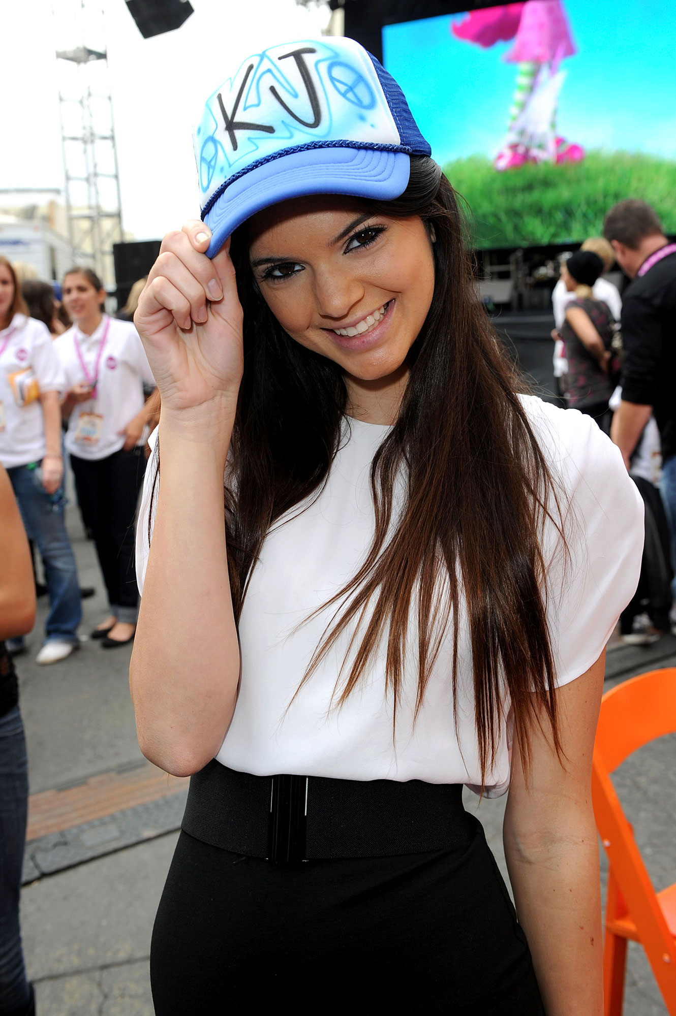 Kendall Jenner through the years - The rising star rocked an airbrushed, monogrammed cap at Variety 's 4th annual Power of Youth event in 2010.