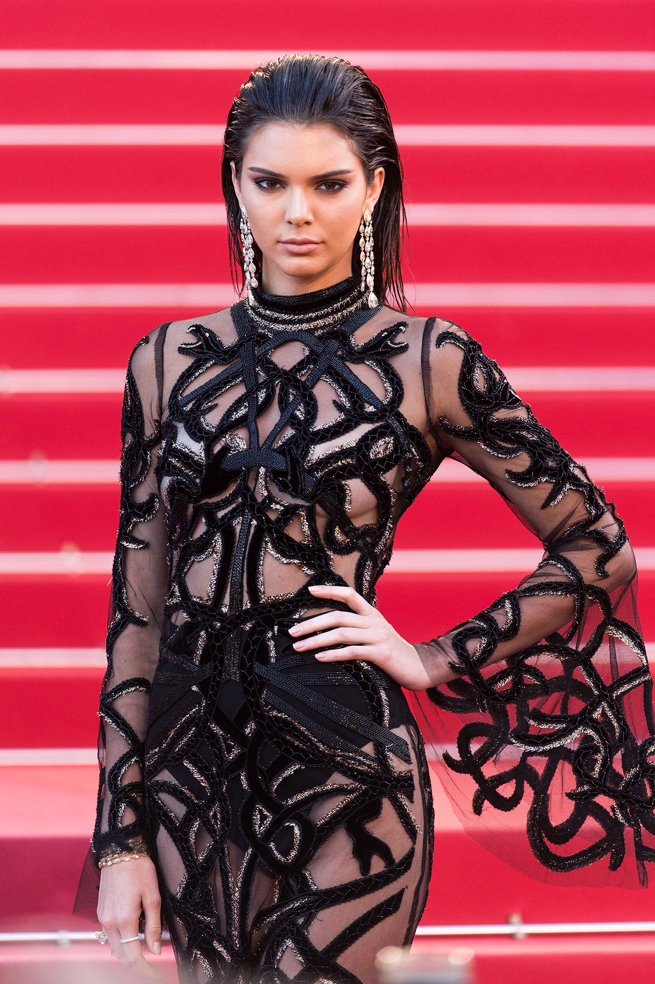 Kendall Jenner through the years - The reality star exuded glamour in a daring transparent dress at the Cannes premiere of From the Land of the Moon (Mal de Pierres) in 2016.