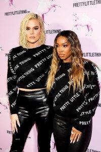 Khloe Kardashian and BFF Malika Twin at the PrettyLittleThings Opening