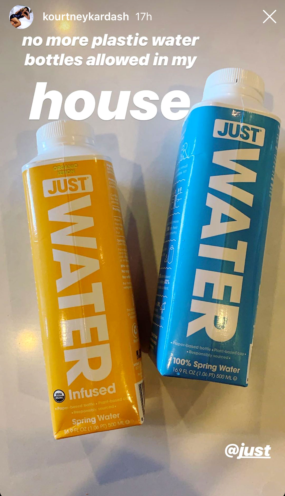 Kourtney Kardashian Bans Plastic Water Bottles in Her House: 'No More' - Kourtney Kardashian/Instagram