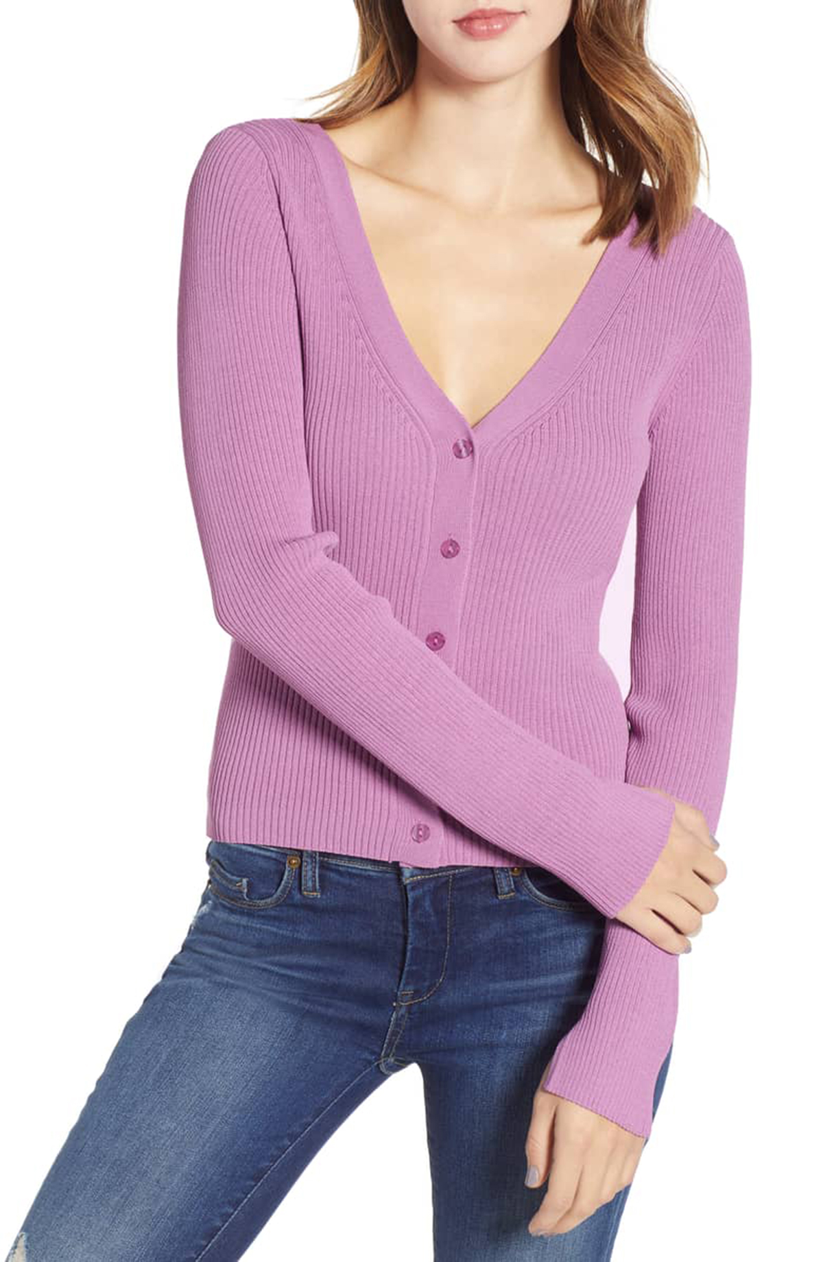 Leith Reversible Sweater Purple