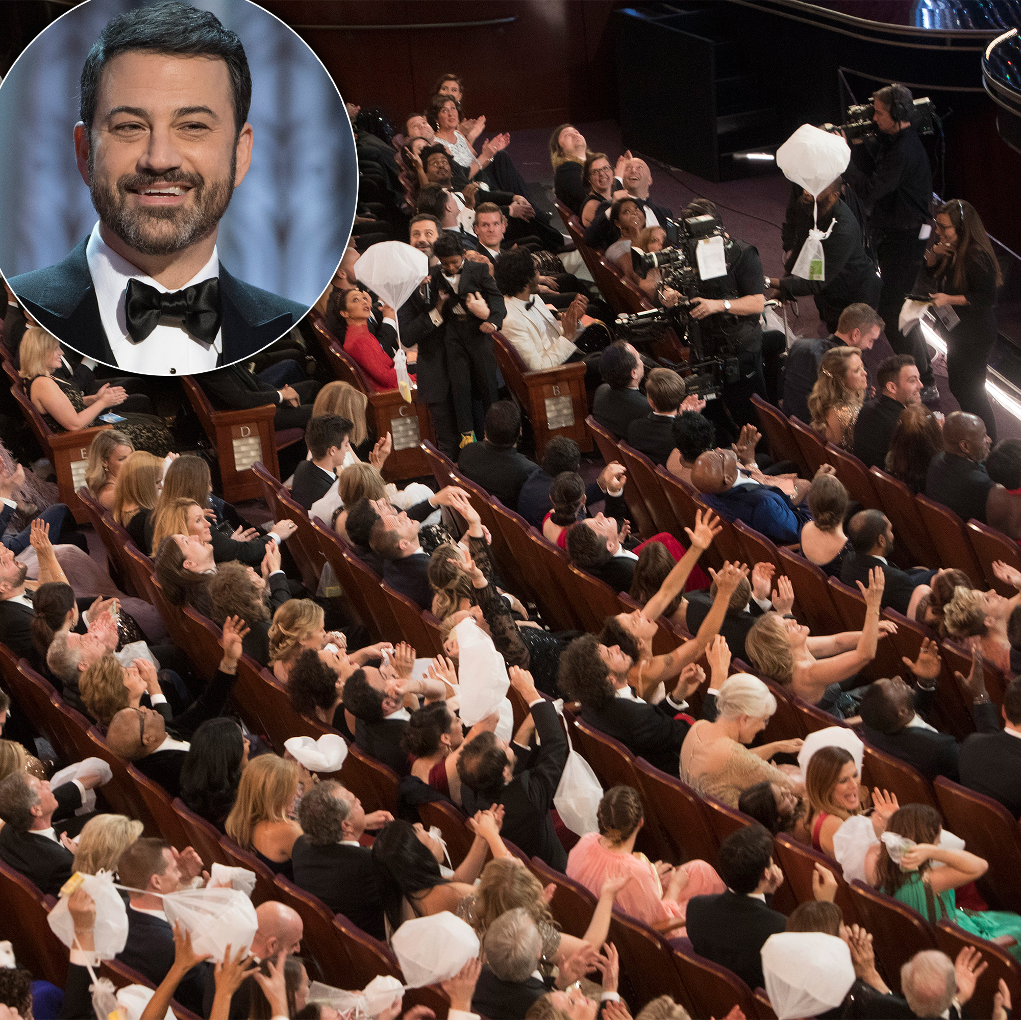 Let Them Eat! Melissa McCarthy, Gemma Chan and More Stars Who Brought Food to Awards Shows - The Jimmy Kimmel Live! host followed in DeGeneres' footsteps multiple times.