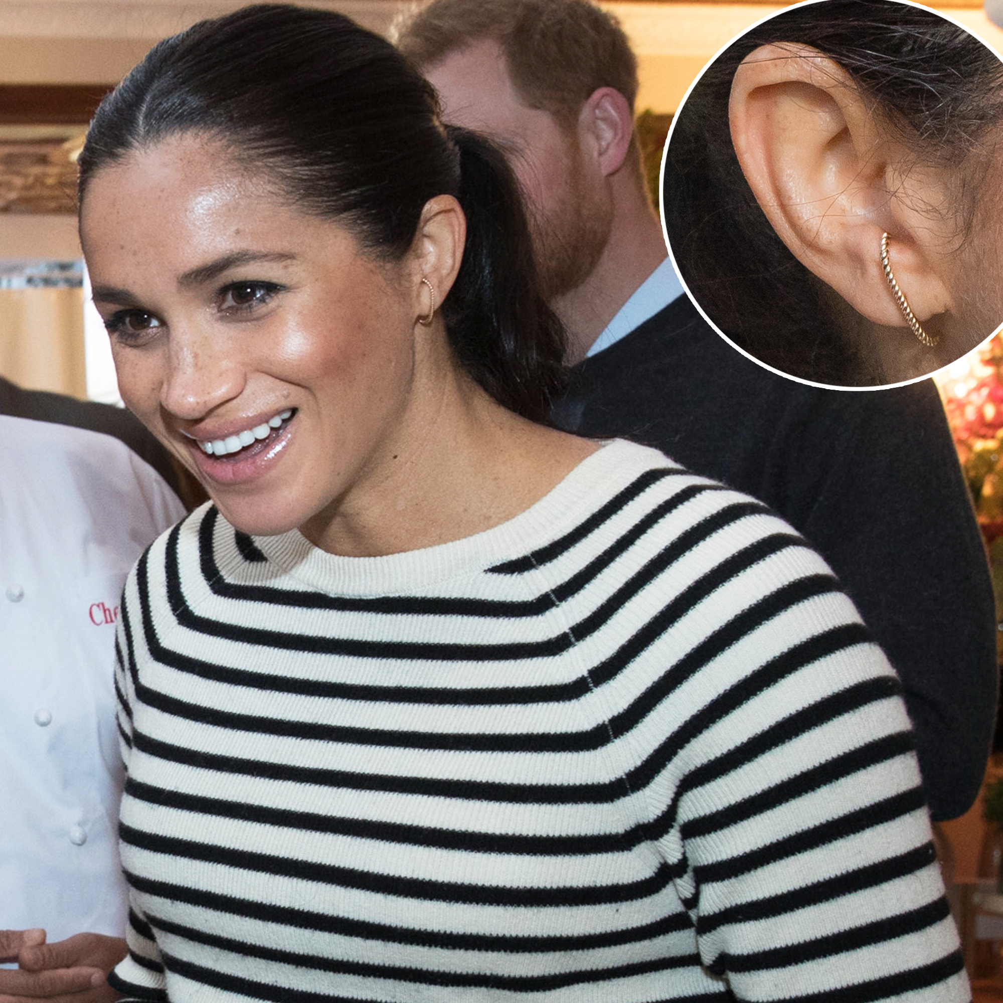 796787867 Love Meghan Markle's Ecksand Illusion Cuffs? Here Are 5 Gold Bar Earrings  Inspired by Them