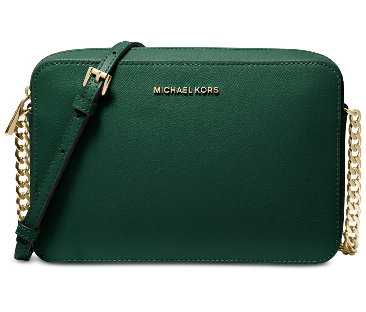 ca4d943f1 Michael Kors Bag Green Macy's. See it: Get the MICHAEL by Michael Kors Jet  Set East West Crossgrain Leather Crossbody ...