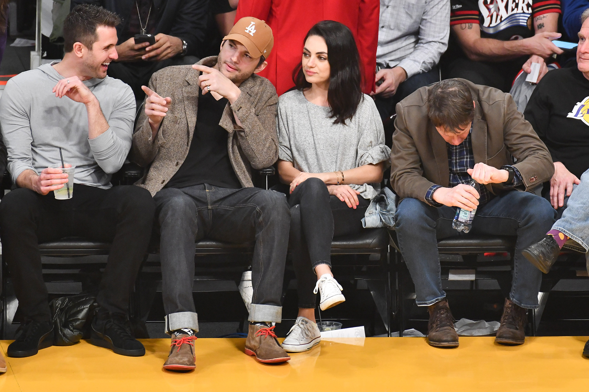 celebrities wearing white converse