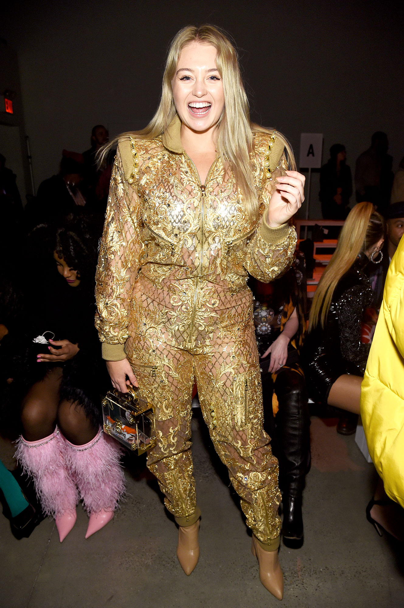 Iskra Lawrence - The model rocked a gold jumpsuit was as radiant as she was at the Blonds show on February 12.