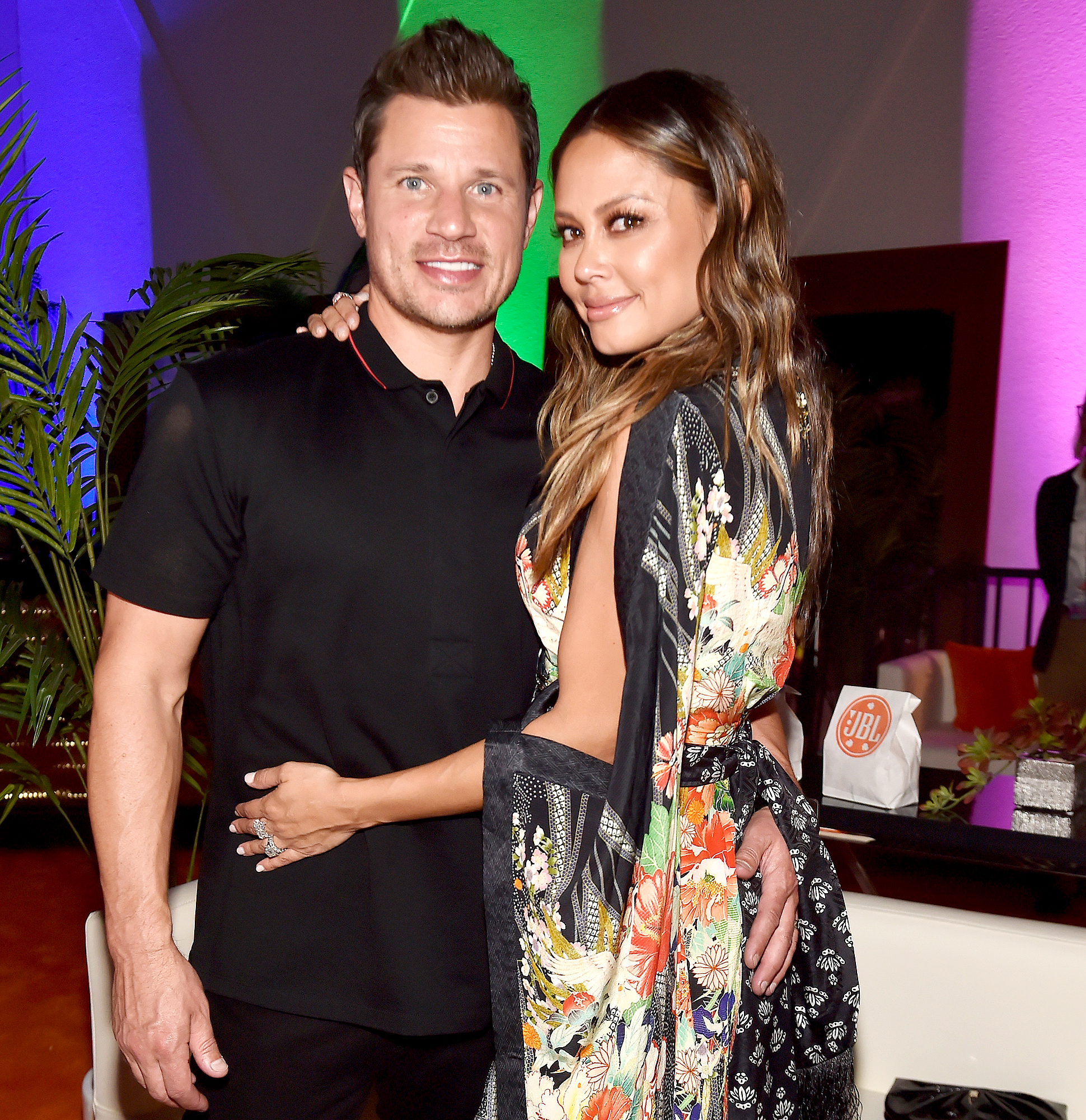 Nick-Lachey-and-Vanessa-Lachey - Nick Lachey and Vanessa Lachey attended JBL Fest on October 19, 2018 in Las Vegas, Nevada.