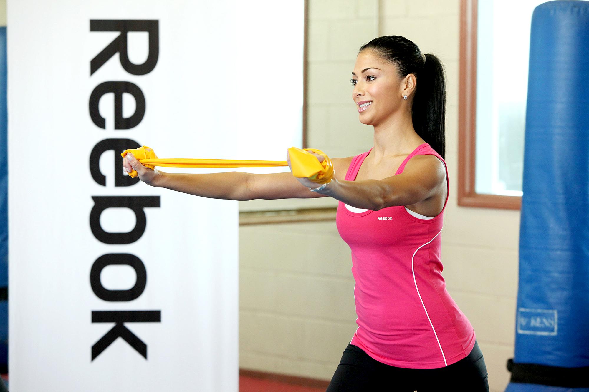 Nicole-Scherzinger-working-out - Nicole Scherzinger attends Reebok's Fit to Flex at the Fitness Factory.