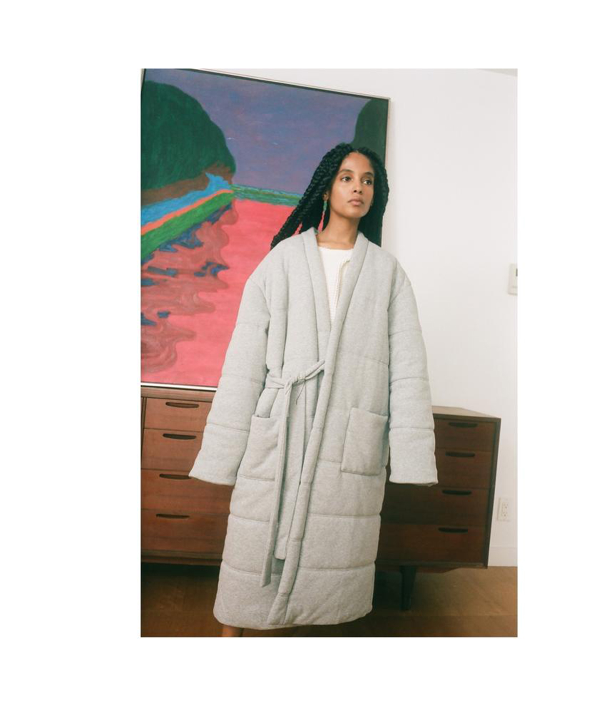 OFFHOURS robe grey