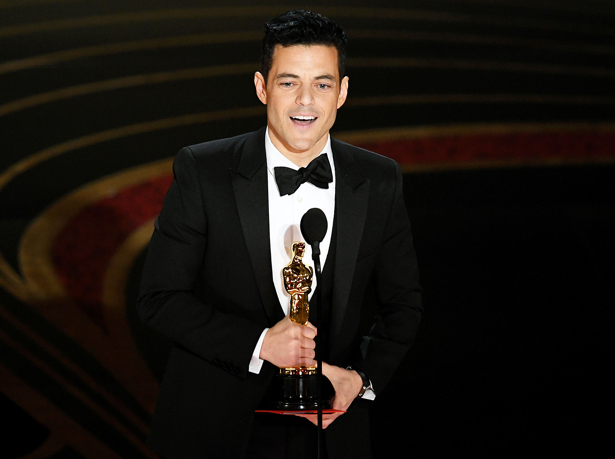 Oscars 2019 Winners List Rami Malek - Rami Malek accepts the Actor in a Leading Role award for 'Bohemian Rhapsody' onstage during the 91st Annual Academy Awards at Dolby Theatre on February 24, 2019 in Hollywood, California.