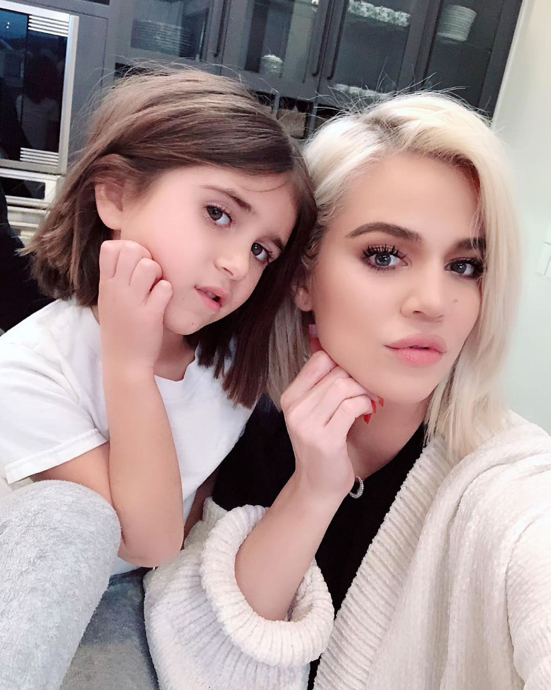 Penelope-Disick-Got-Her-First-Haircut,-and-She's-Twinning-with-Aunt-Khloe-Kardashian-2 - Penelope Disick and Khloe Kardashian