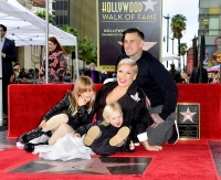Pink-hollywood-star-ceremony-cary hart-kids