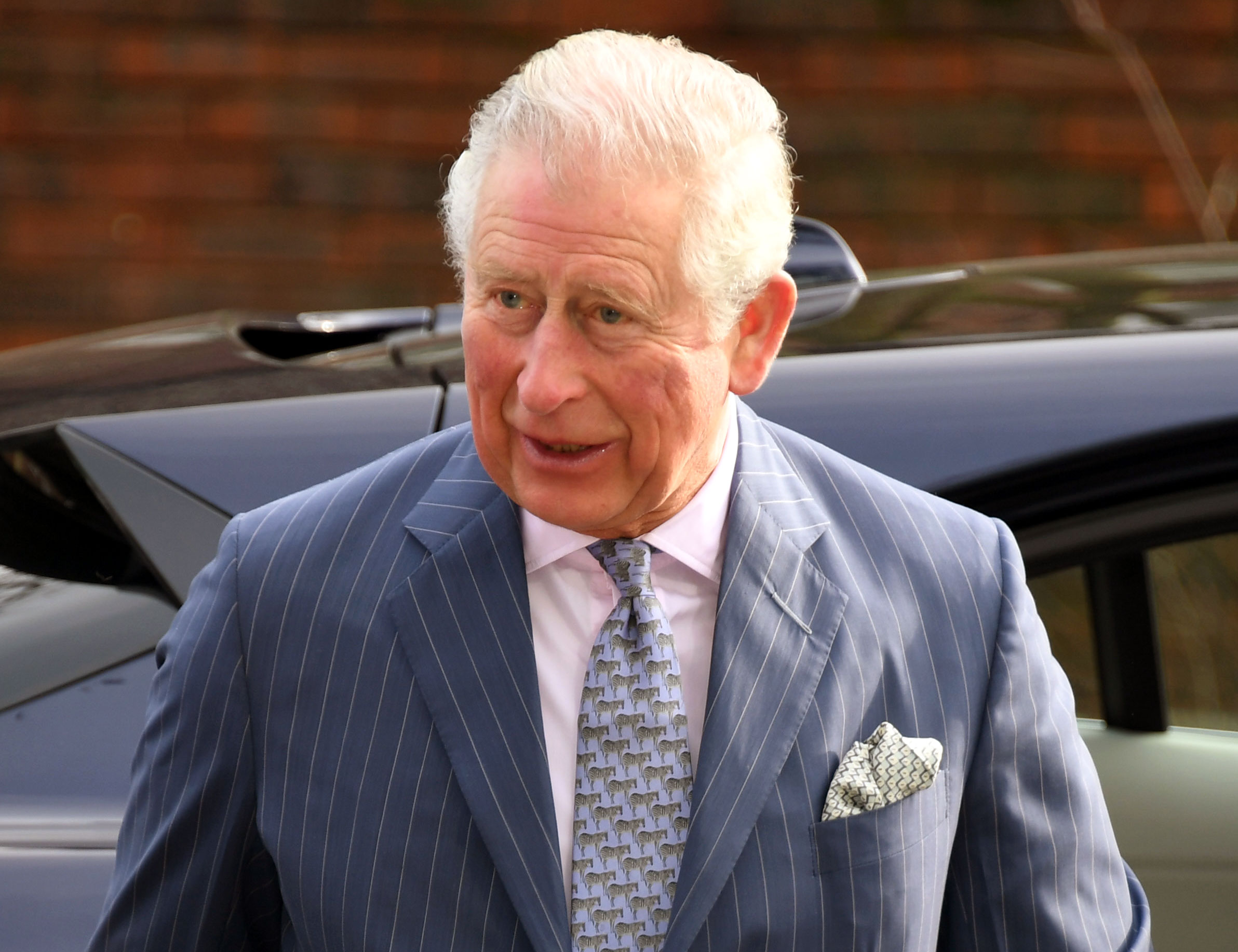 Prince Charles Spotted Without a Seatbelt After Prince Philip's Accident - Prince Charles, Prince of Wales arrives to visit the Kensington Aldridge Academy where he also met with representatives of the Teach First charity on February 13, 2019 in London, England.