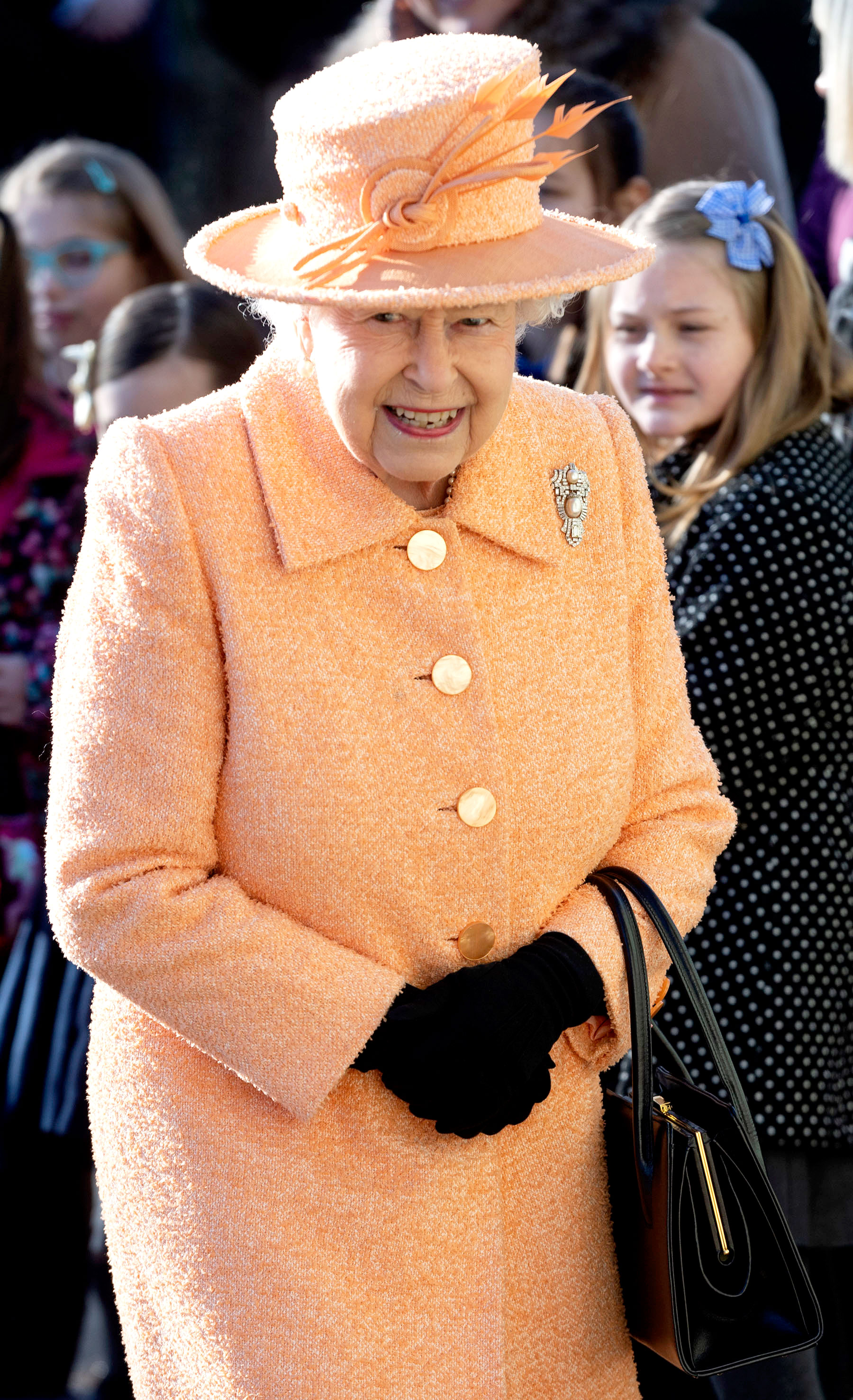 Queen Elizabeth II Is a Chocoholic — Plus, More Fun Food Secrets About the Monarch! - Queen Elizabeth II attends Sunday Service at St Peter and St Paul Church in West Newton in King's Lynn, England, on February 3, 2019.