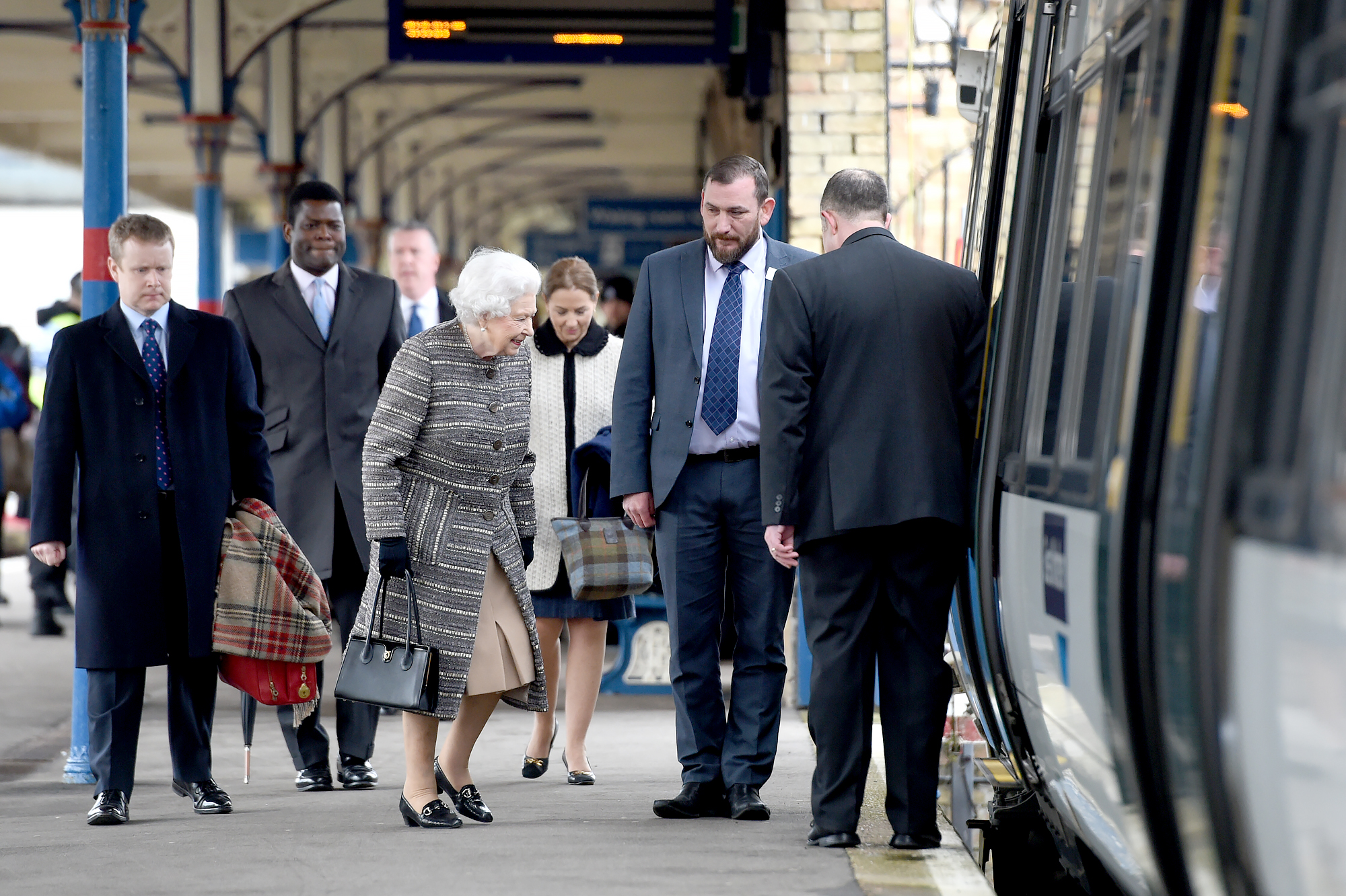 Queen-Elizabeth-Kings-Lynn-Railway-Station-4 - The queen typically returns from Sandringham on the first weekday after the anniversary of her father's death on February 6 but reportedly delayed her trip to London this year to spend more time with Philip.