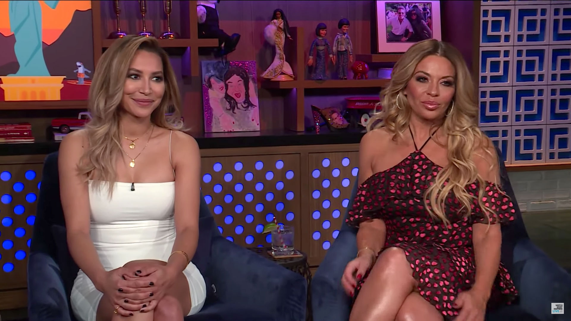RHONJs-Dolores-Catania-Says-She-Hopes-Teresa-and-Joe-Giudice-Stay-Together-Amid-Drama - Naya Rivera and Dolores Catania appear on WWHL.