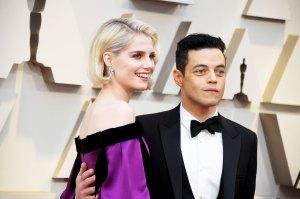 Rami Malek Adorably Tells Lucy Boynton She's 'Captured His Heart' During Oscars 2019 Acceptance Speech