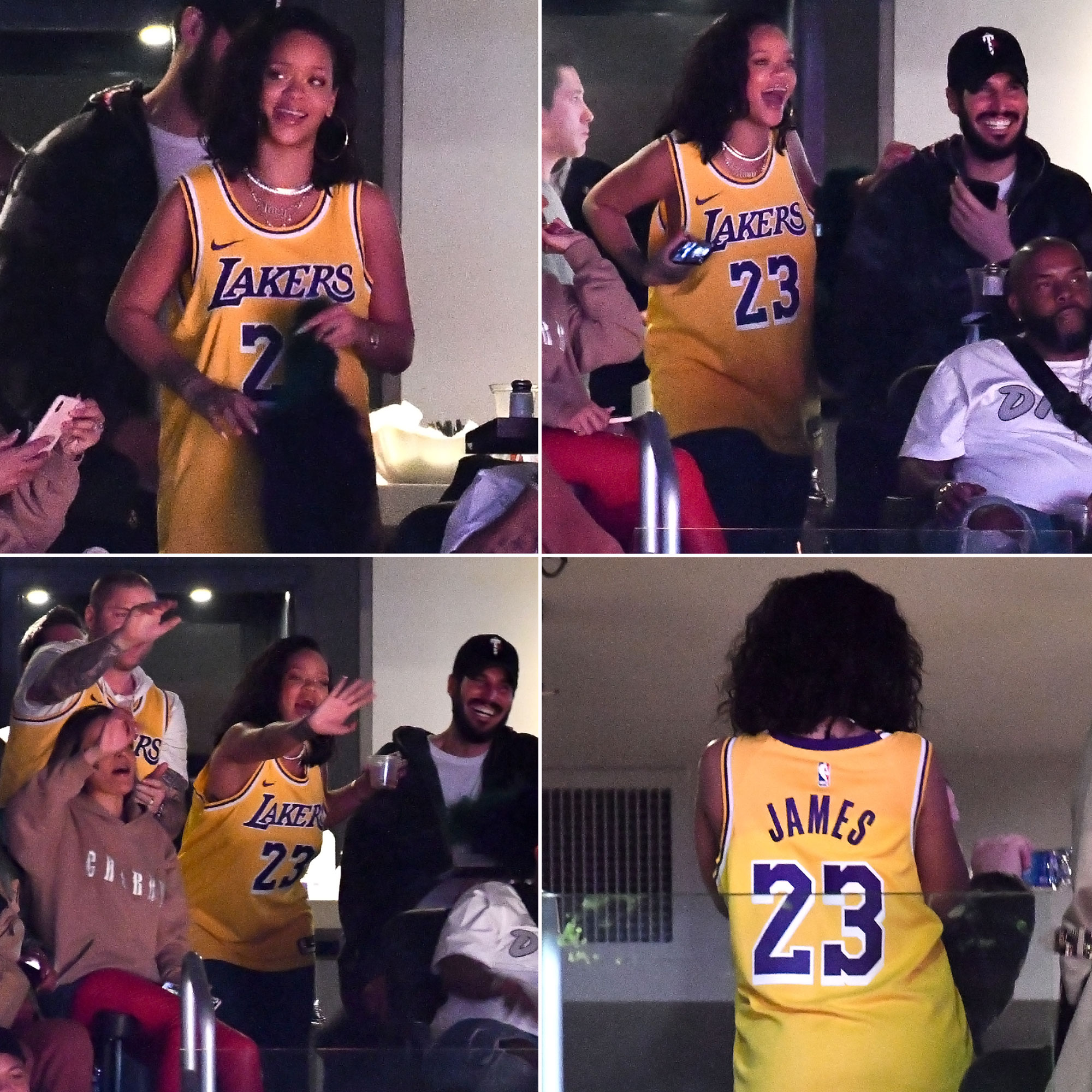 Rihanna Attends Lakers Game With Bf Hassan Jameel For Birthday