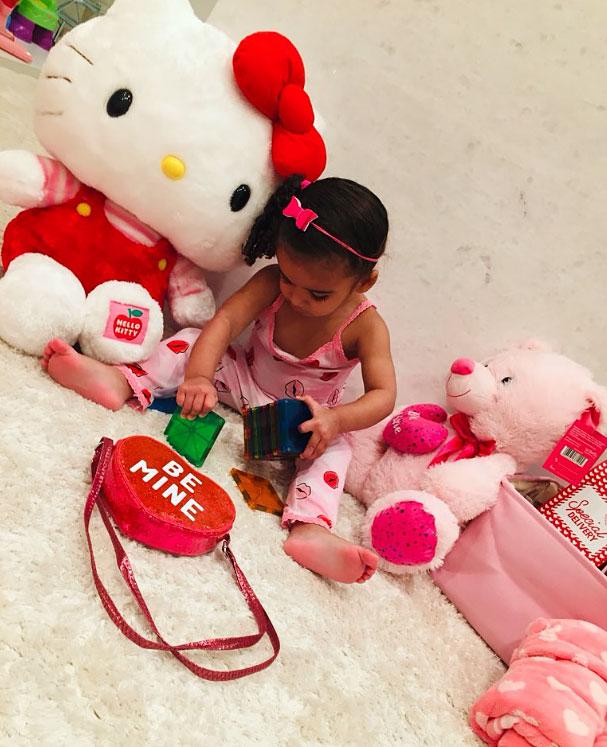 Dream Kardashian Cute Celebrity Kids Celebrating Valentine's Day - Robert Kardashian and Dream Kardashian