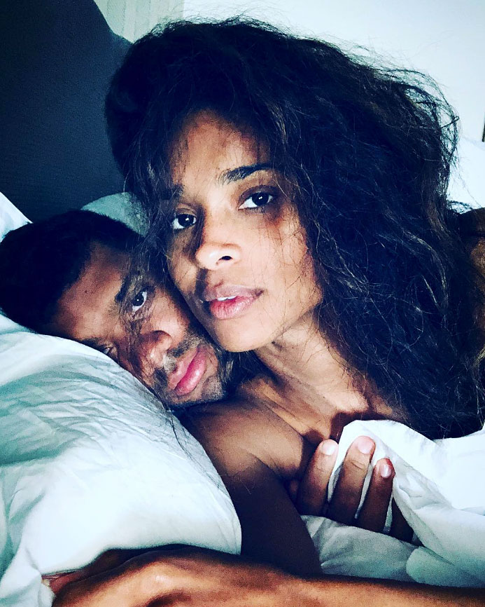 "Russell-Wilson More Celebs Post Tributes to Their Loves on Valentine's Day - ""You always make me smile and laugh. I love how I can always be myself with you. My sweet valentine. @DangeRussWilson I love you sooo much my #GreatestLove,"" the ""1,2 Step"" singer captioned a video collage. ""Forever my greatest love. ❤️"""