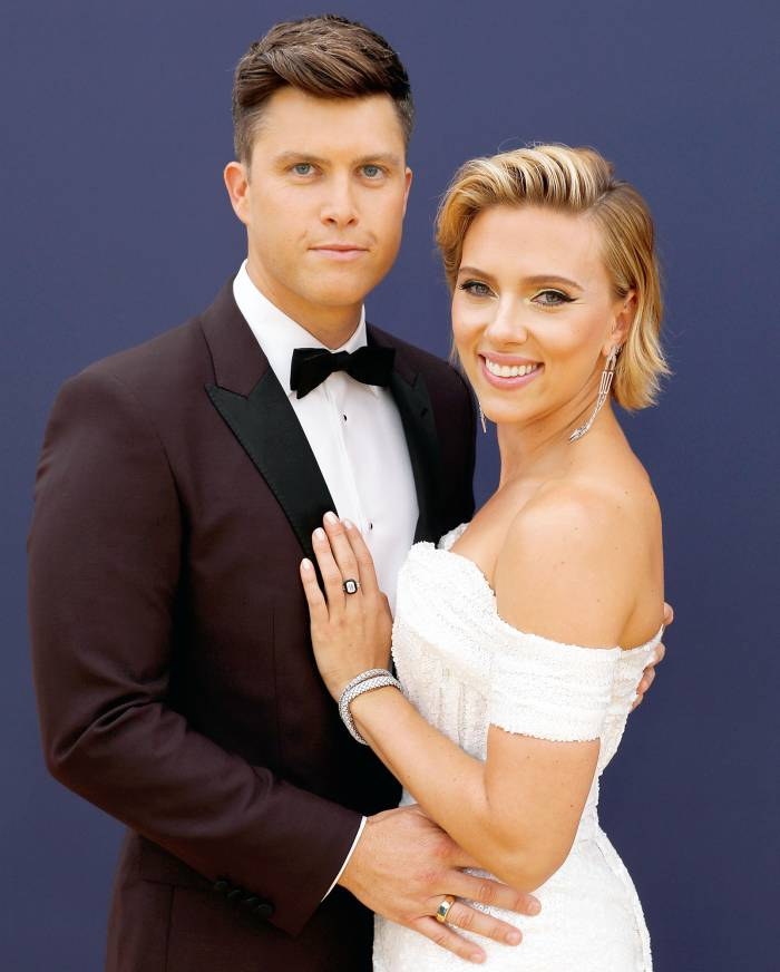 Scarlett Johansson Colin Jost Living Together Fully Committed