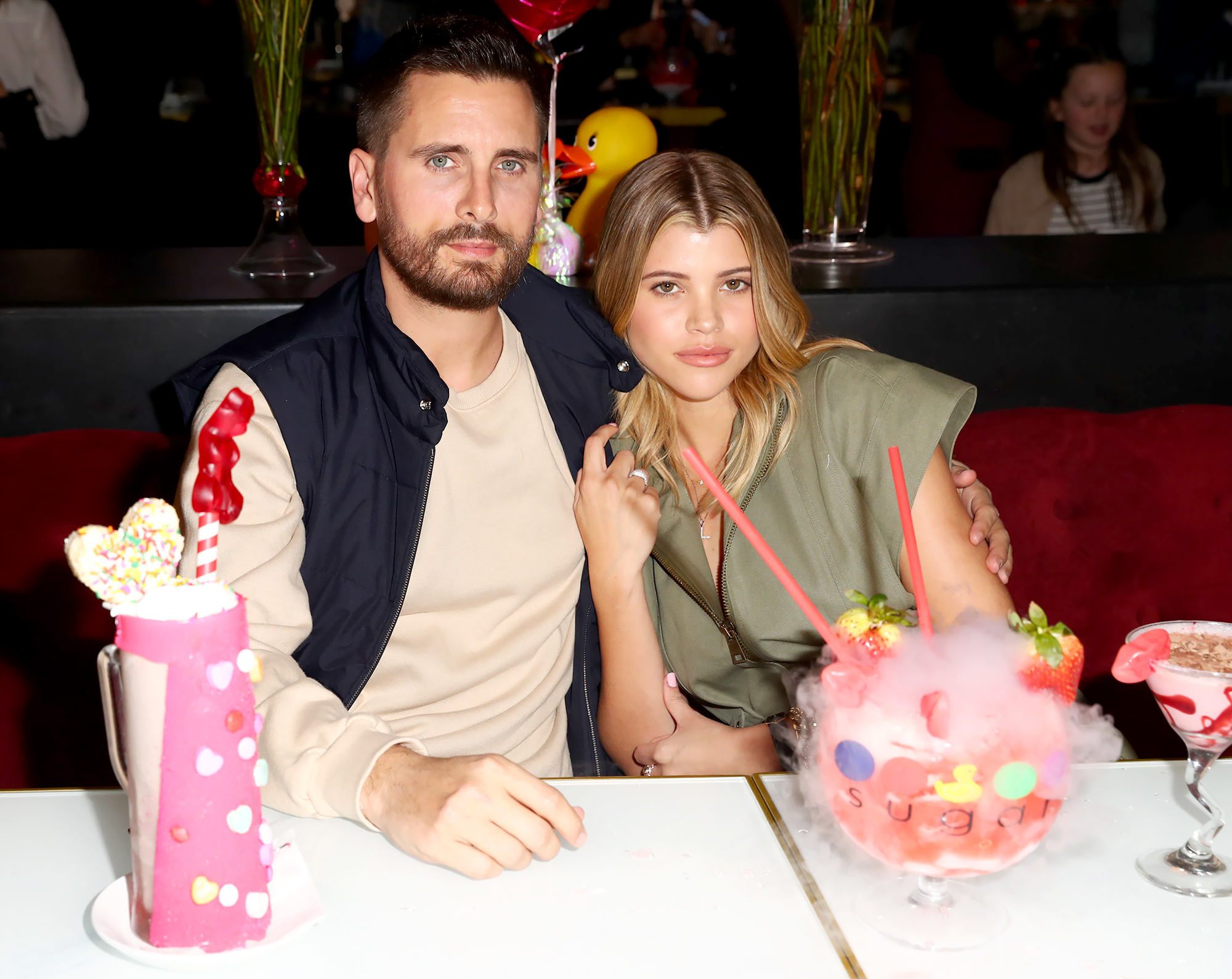 Scott-Disick-and-Sofia-Richie-valentines-day - Scott Disick and Sofia Richie celebrate Valentine's Day at San Diego's new Theatre Box® Entertainment Complex with dinner at Sugar Factory American Brasserie at Theatre Box® on February 14, 2019 in San Diego, California.