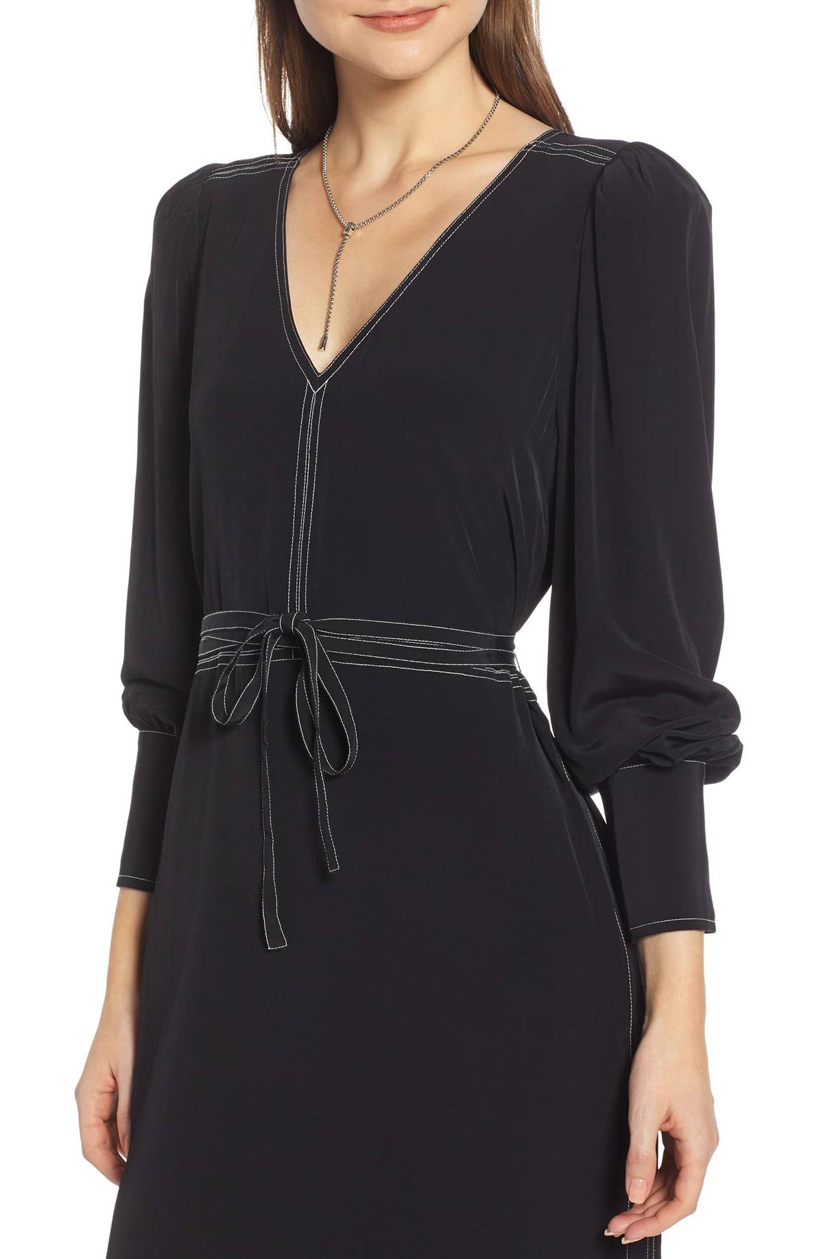 Something Navy Midi Dress Black