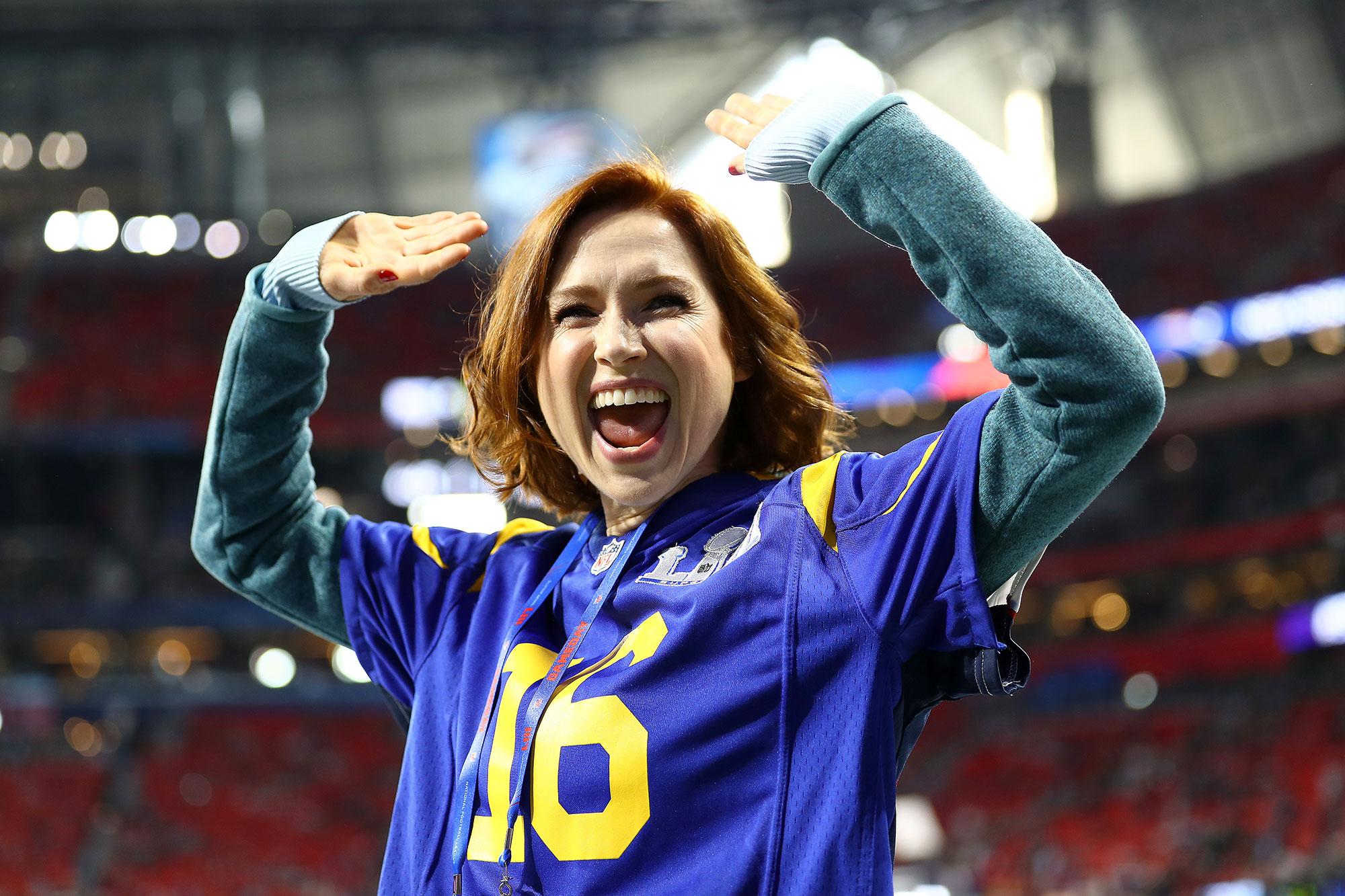 Gallery Super Bowl 53 Ellie Kemper - ATLANTA, GEORGIA – FEBRUARY 03: Actress Ellie Kemper attends Super Bowl LIII at Mercedes-Benz Stadium between the Los Angeles Rams and the New England Patriots on February 03, 2019 in Atlanta, Georgia. (Photo by Maddie Meyer/Getty Images)