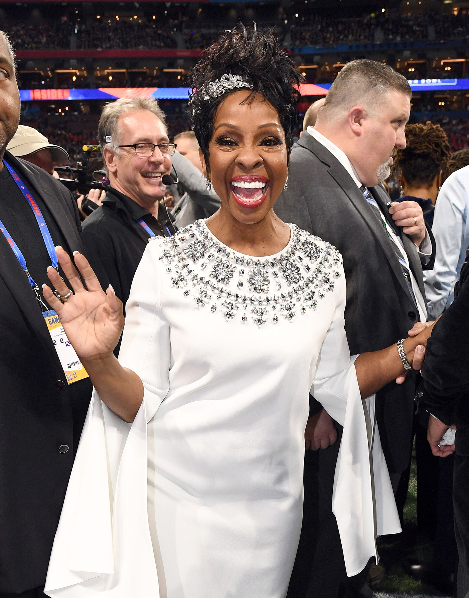 Gallery Super-Bowl-53-Knight - The Empress of Soul was all smiles before singing a soulful national anthem.