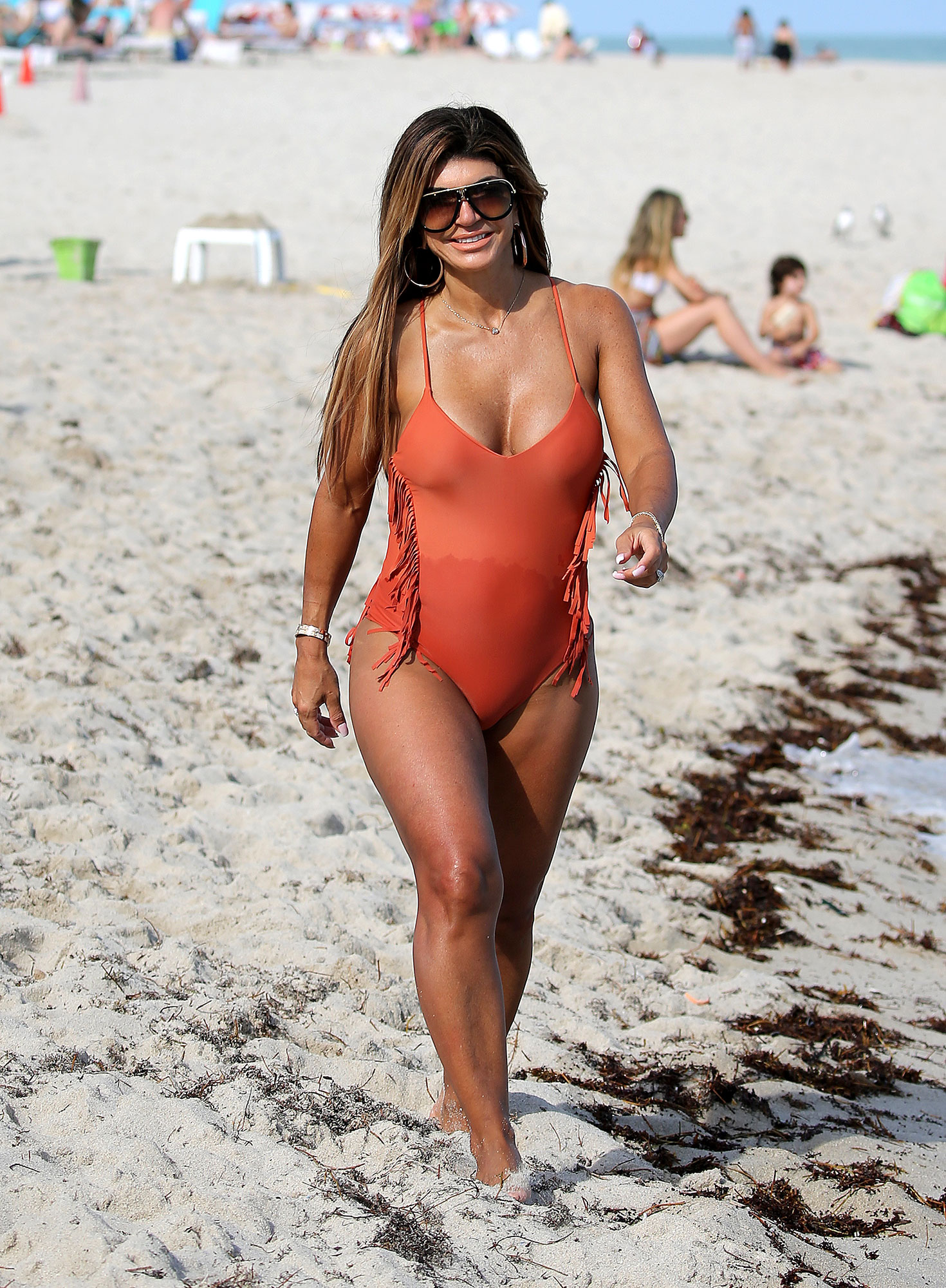 "Teresa Giudice Looks Carefree in Swimsuit on the Beach Amid Joe Giudice Drama - Teresa claimed during a November appearance on Watch What Happens Live With Andy Cohen that she has not had sex in ""two years and seven months."""
