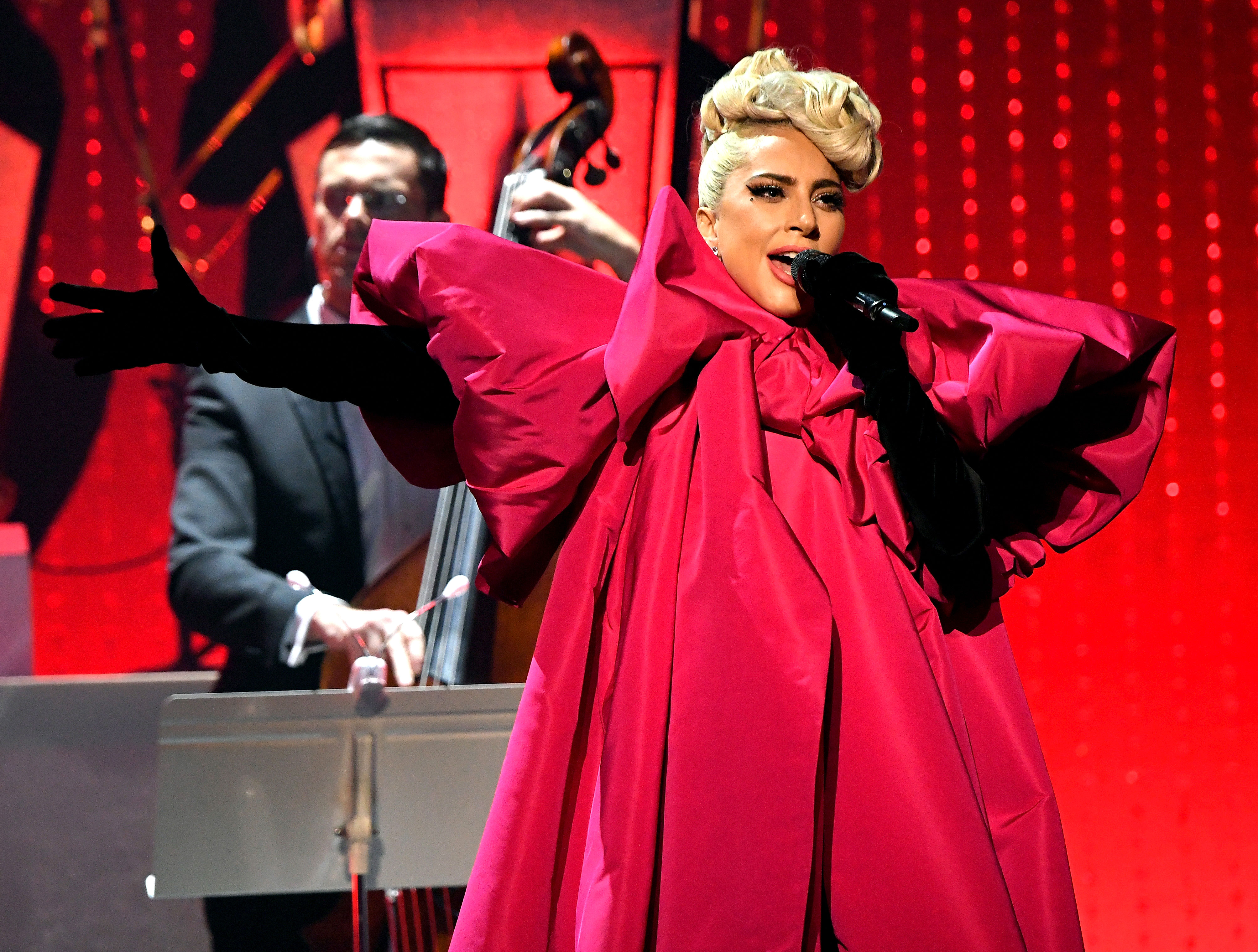 The Biggest Music Stories of 2019 So Far - Lady Gaga performs at Park Theater inside Park MGM on January 19, 2019 in Las Vegas.