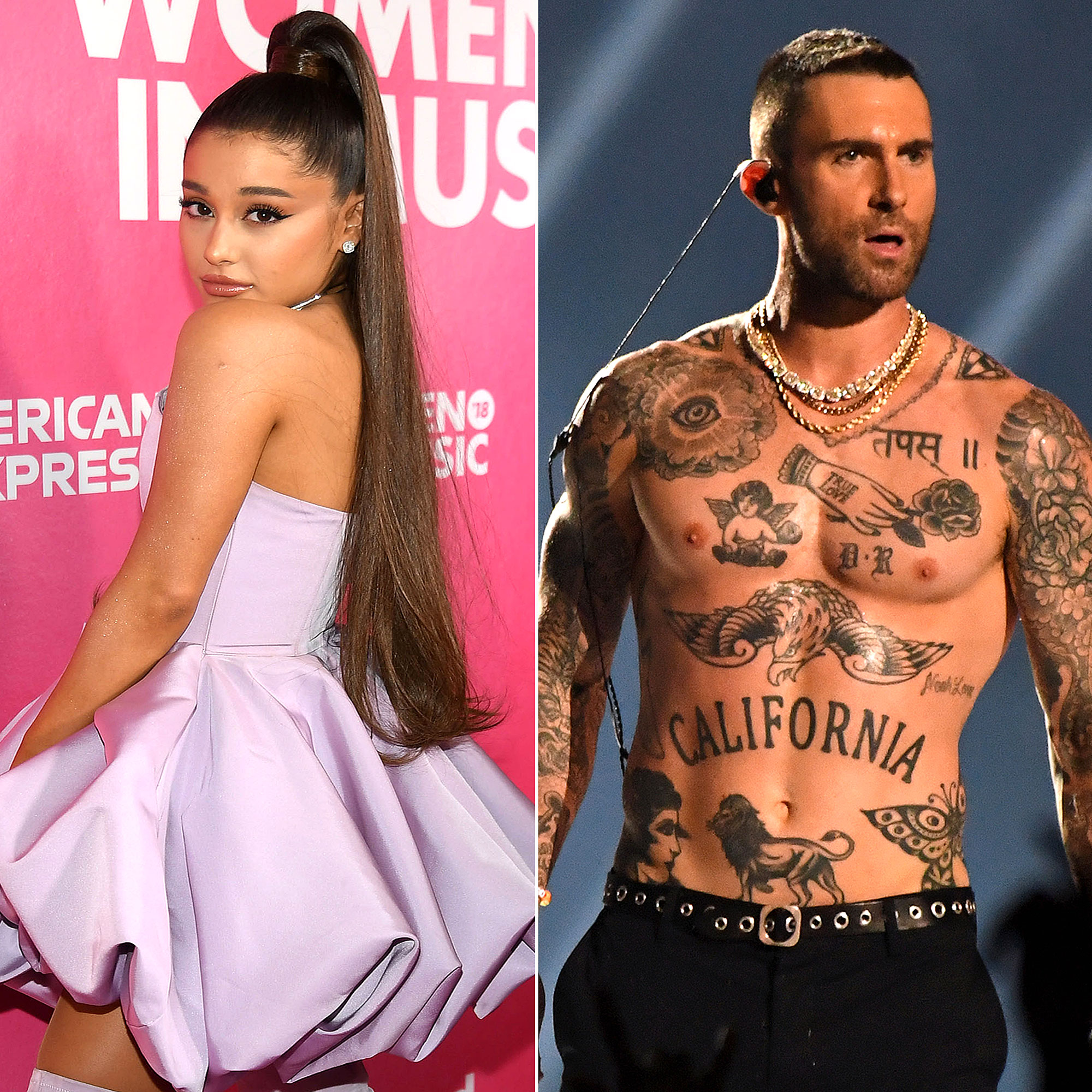 The Biggest Music Stories of 2019 So Far - Ariana Grande and Adam Levine of Maroon 5.