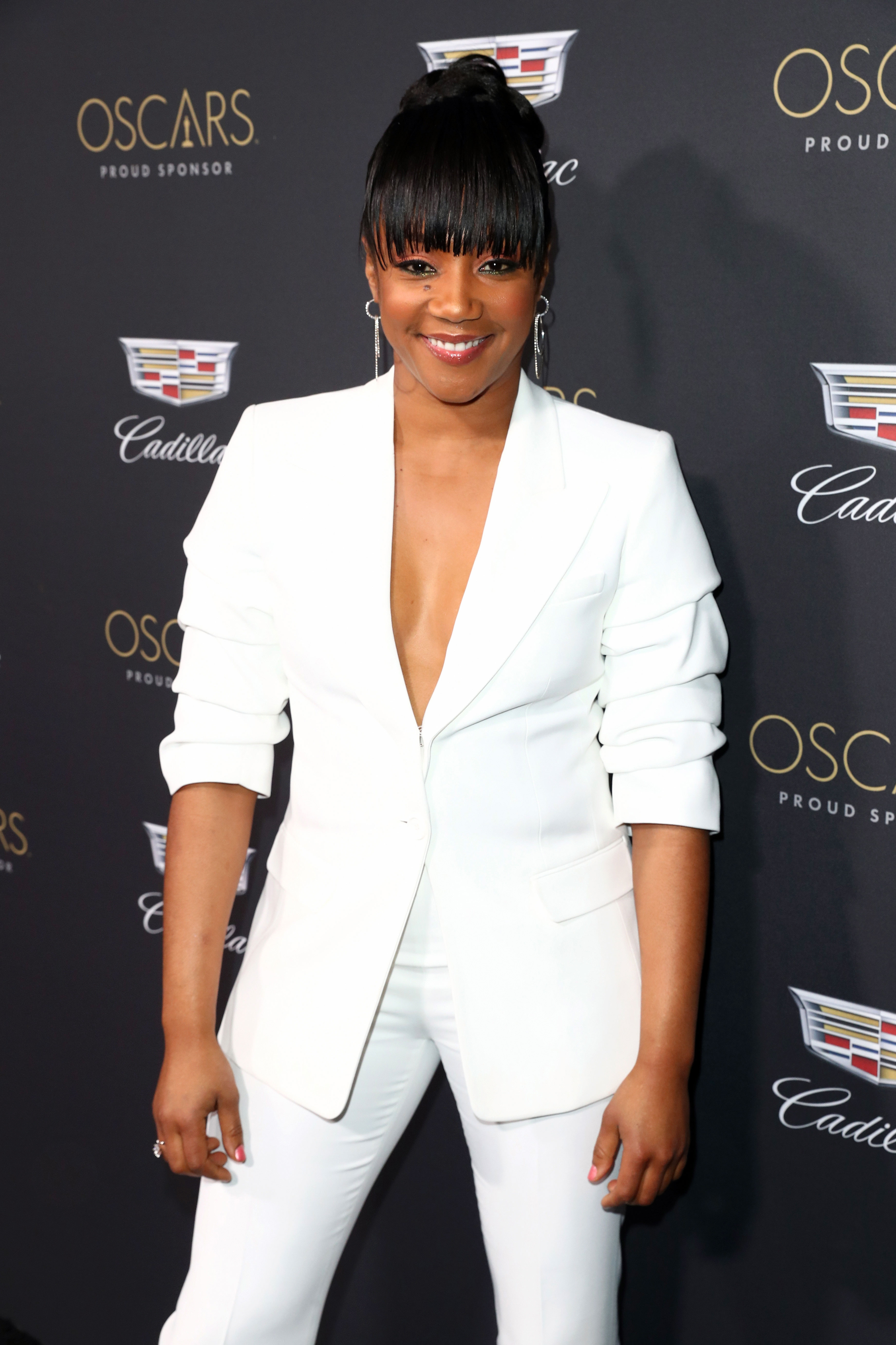 """Tiffany Haddish Cadillac - The Cadillac party was clearly the place to be on Thursday night as the Night School comedian was also in attendance. Haddish """"was laughing and looked like she was having a blast,"""" an insider told Us ."""