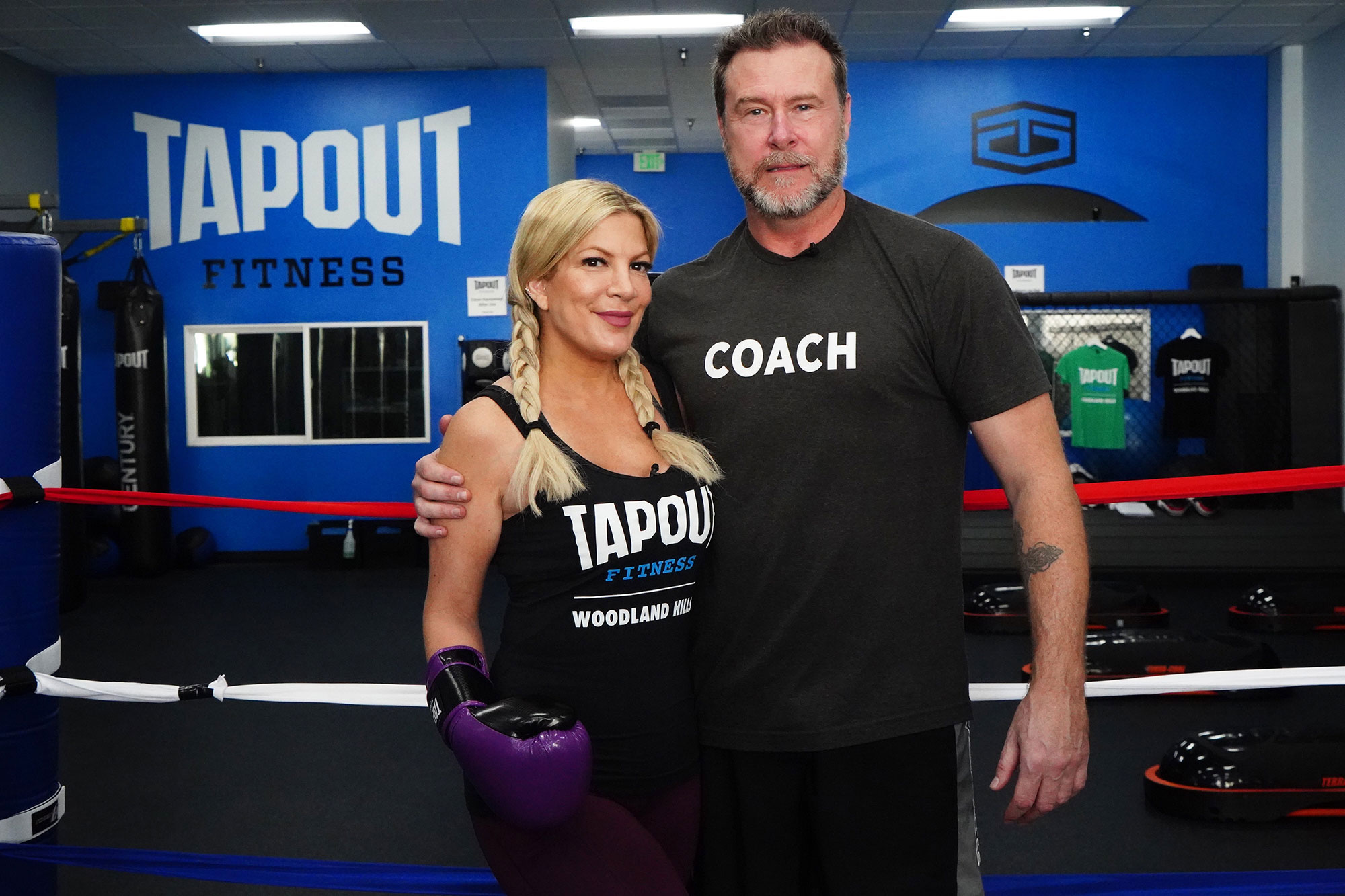 Tori Spelling and Dean McDermott Aren't Shutting Down the Possibility of Having Another Kid - Tori Spelling and Dean McDermott at Tapout Fitness Woodland Hills.