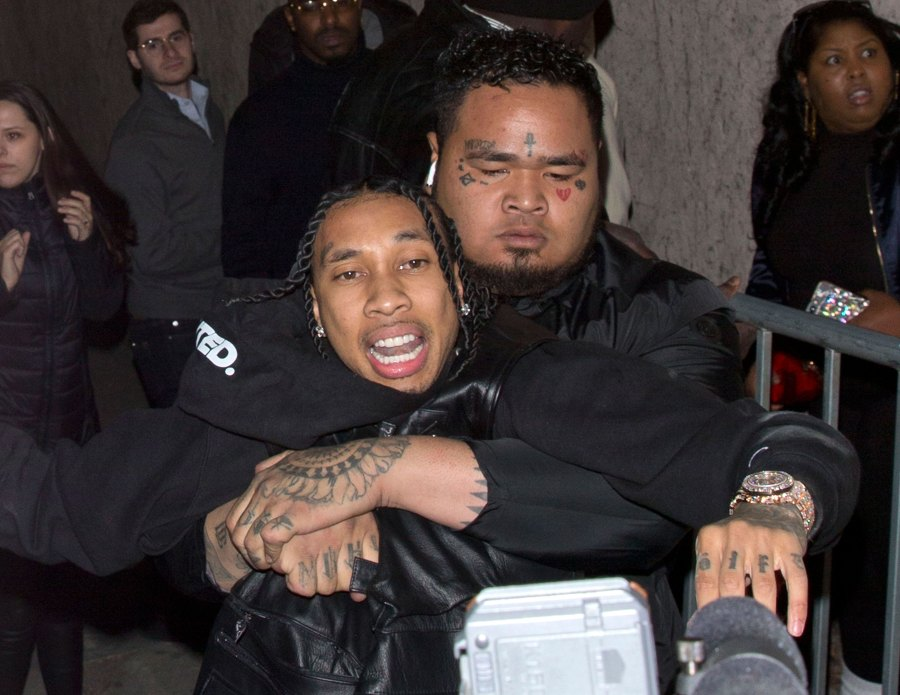 Tyga Reaches for Gun Amid Security Guard Fight at Mayweather Party