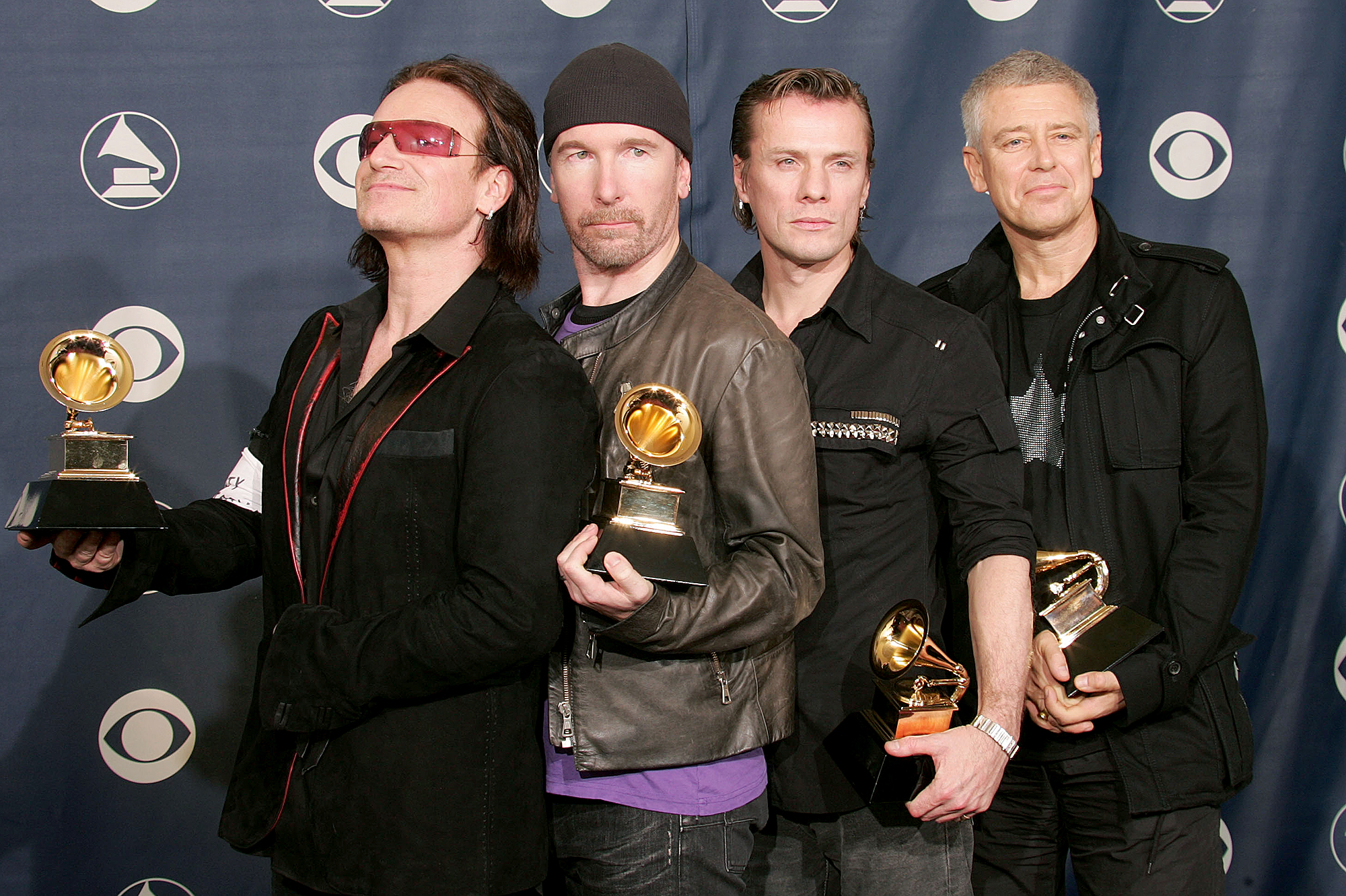 U2-grammy-awards - U2 has earned 22 Grammys to date. In 2005, the Irish rock band won Album of the Year, Song of the Year, Best Rock Performance by a Duo or Group with Vocal, Best Rock Song and Best Rock Album.