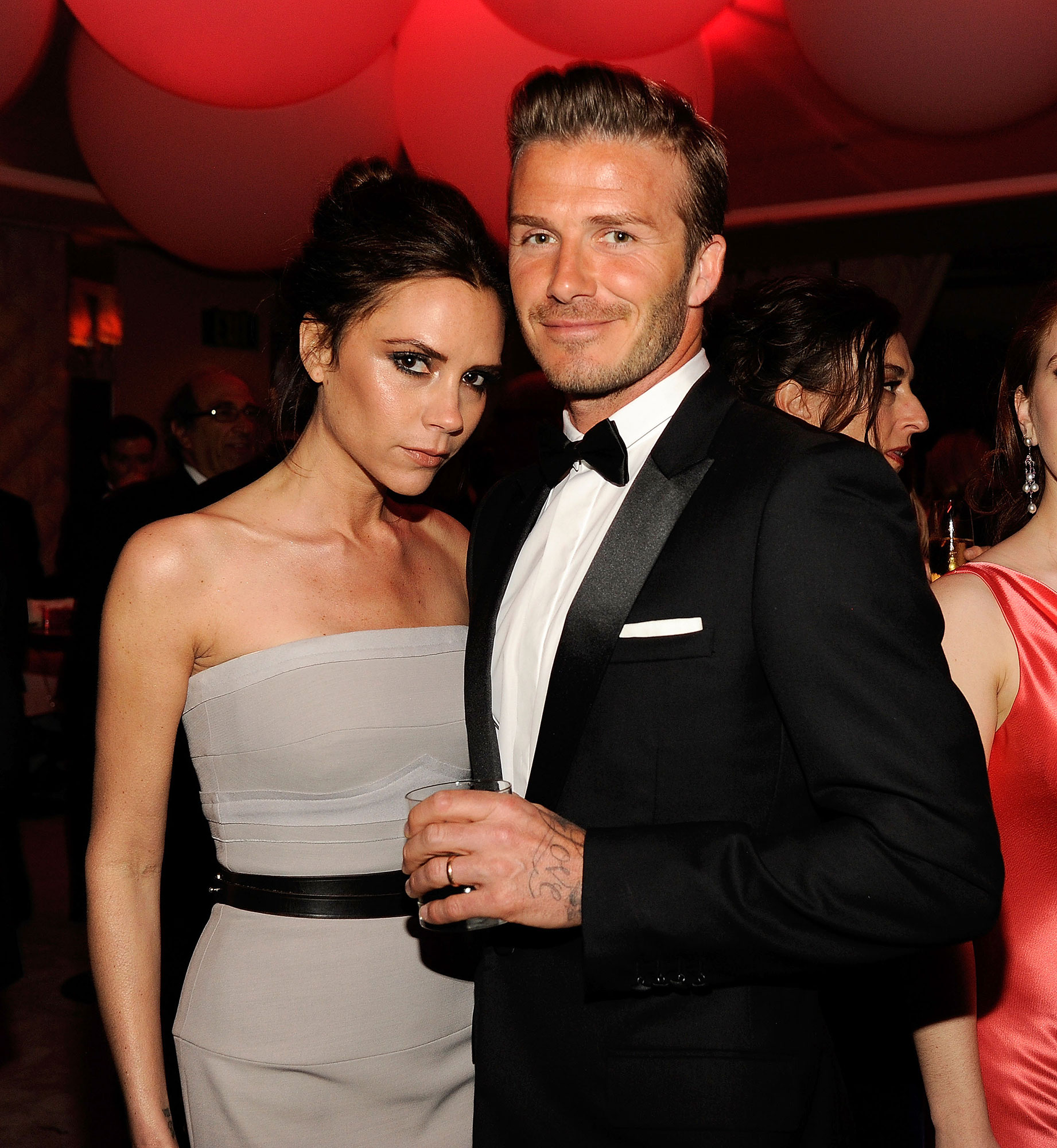 Victoria and David Beckham timeline gallery - WEST HOLLYWOOD, CA – FEBRUARY 26: (EXCLUSIVE ACCESS SPECIAL RATES APPLY; NO NORTH AMERICAN ON-AIR BROADCAST UNTIL MARCH 1, 2012) Victoria Beckham and David Beckham attend the 2012 Vanity Fair Oscar Party Hosted By Graydon Carter at Sunset Tower on February 26, 2012 in West Hollywood, California. (Photo by Kevin Mazur/VF12/WireImage)