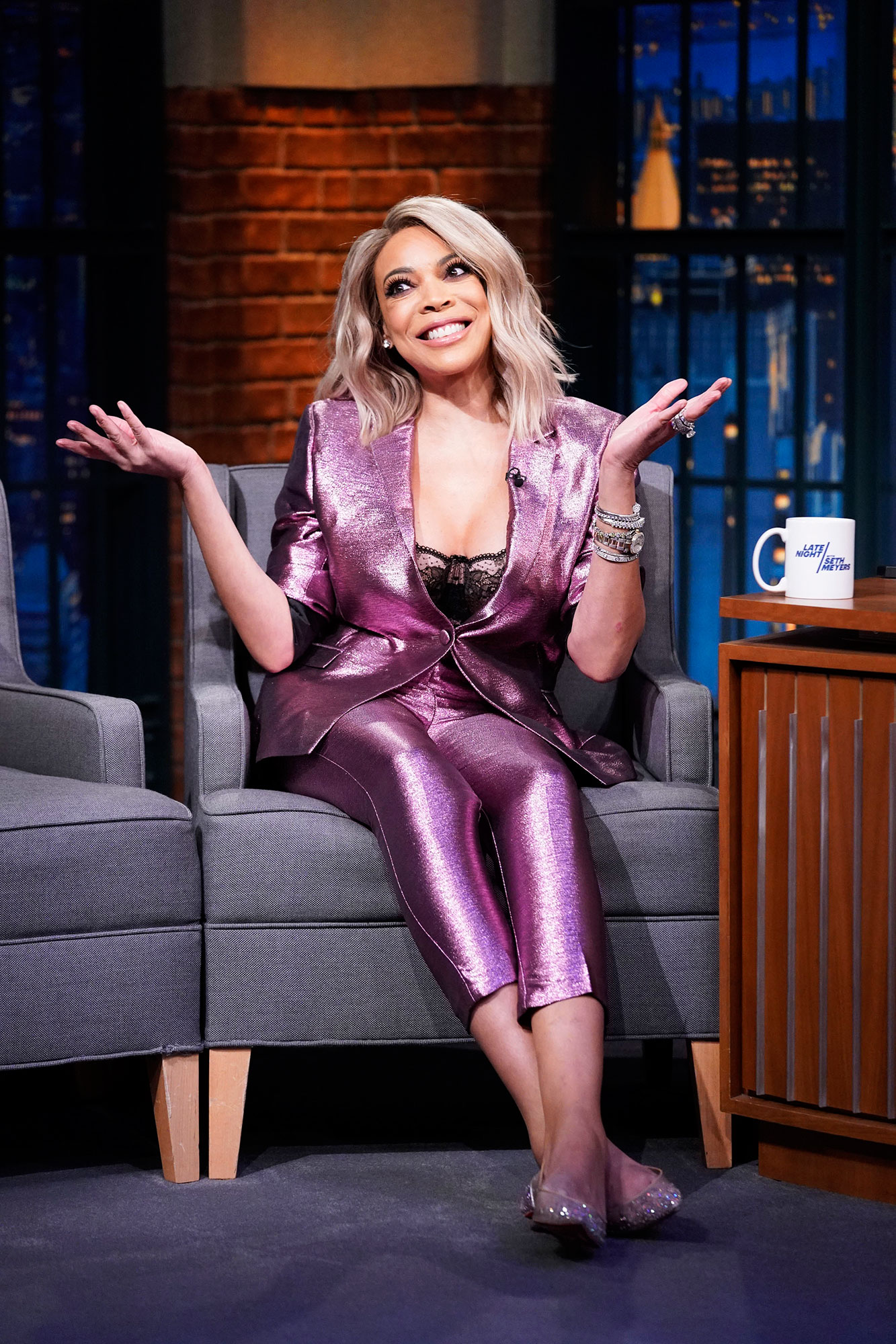 Wendy Williams Finally Sets Return Date After Two-Month Hiatus - LATE NIGHT WITH SETH MEYERS — Episode 750 — Pictured: Talk show host, Wendy Williams, on October 30, 2018