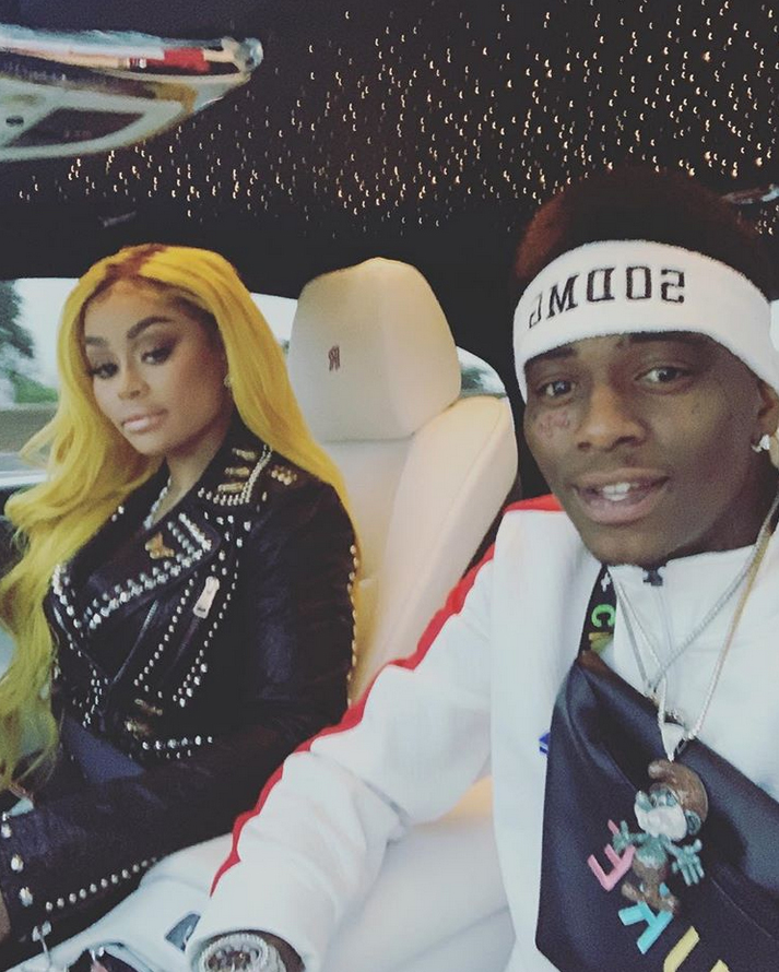 "blac-chyna-soulja-boy-valentines-day - The model and the rapper spent V-Day 2019 together after sparking romance rumors with flirty pics two days prior. ""Happy Valentine's Day,"" the ""Crank That"" crooner wrote on an Instagram photo of the pair together in a car."