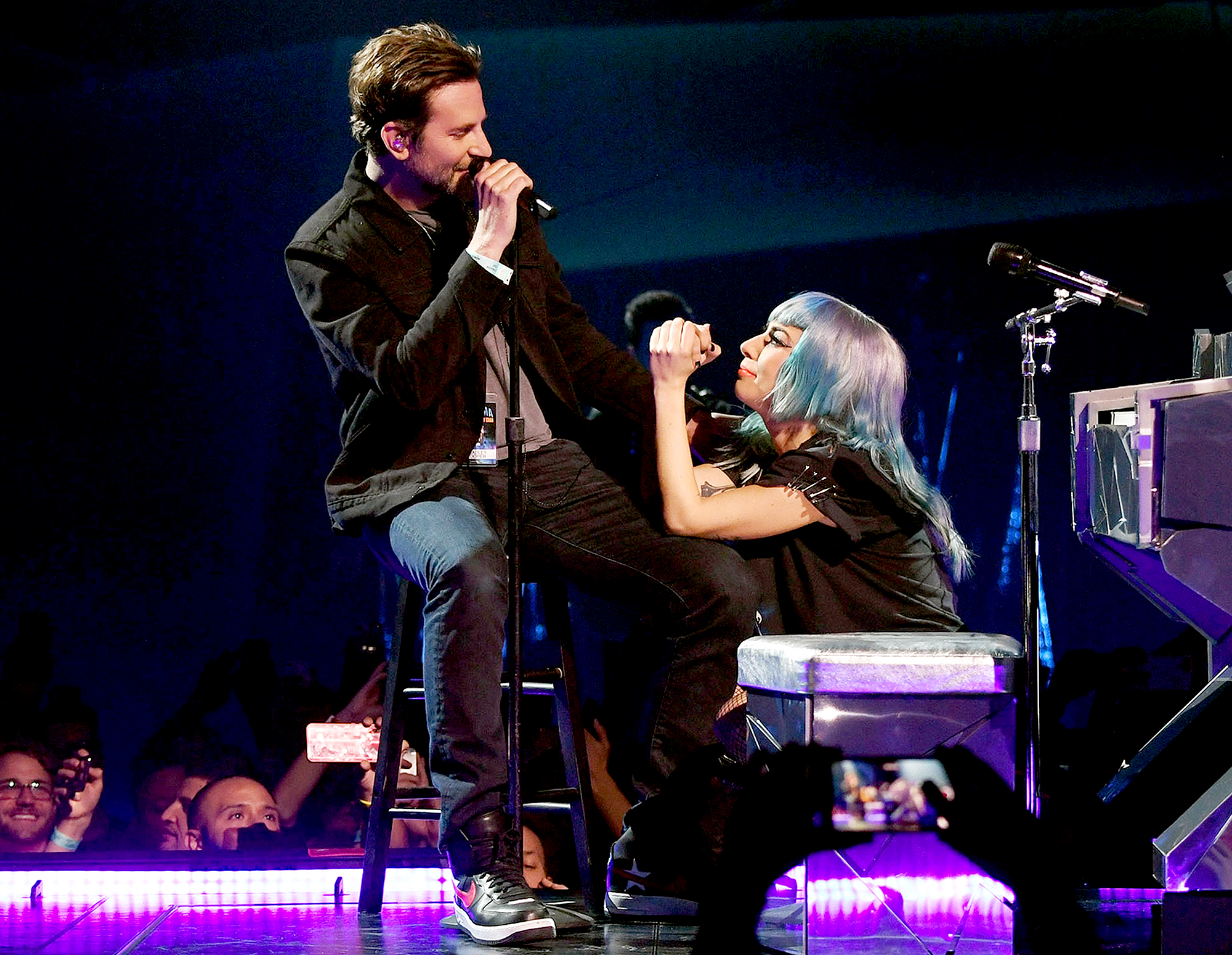 "bradley-cooper-lady-gaga-shallow grammys - ""Fall In Line"" — Christina Aguilera featuring Demi Lovato ""Don't Go Breaking My Heart — Backstreet Boys ""S Wonderful — Tony Bennett & Diana Krall ""Shallow"" — Lady Gaga & Bradley Cooper ""Girls Like You"" — Maroon 5 featuring Cardi B ""Say Something — Justin Timberlake featuring Chris Stapleton ""The Middle — Zedd, Maren Morris & Grey"