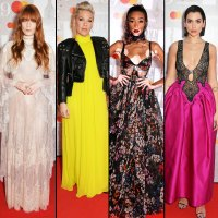 brit awards red carpet 2019 Florence Welch, Pink, Winnie Harlow and Dua Lipa
