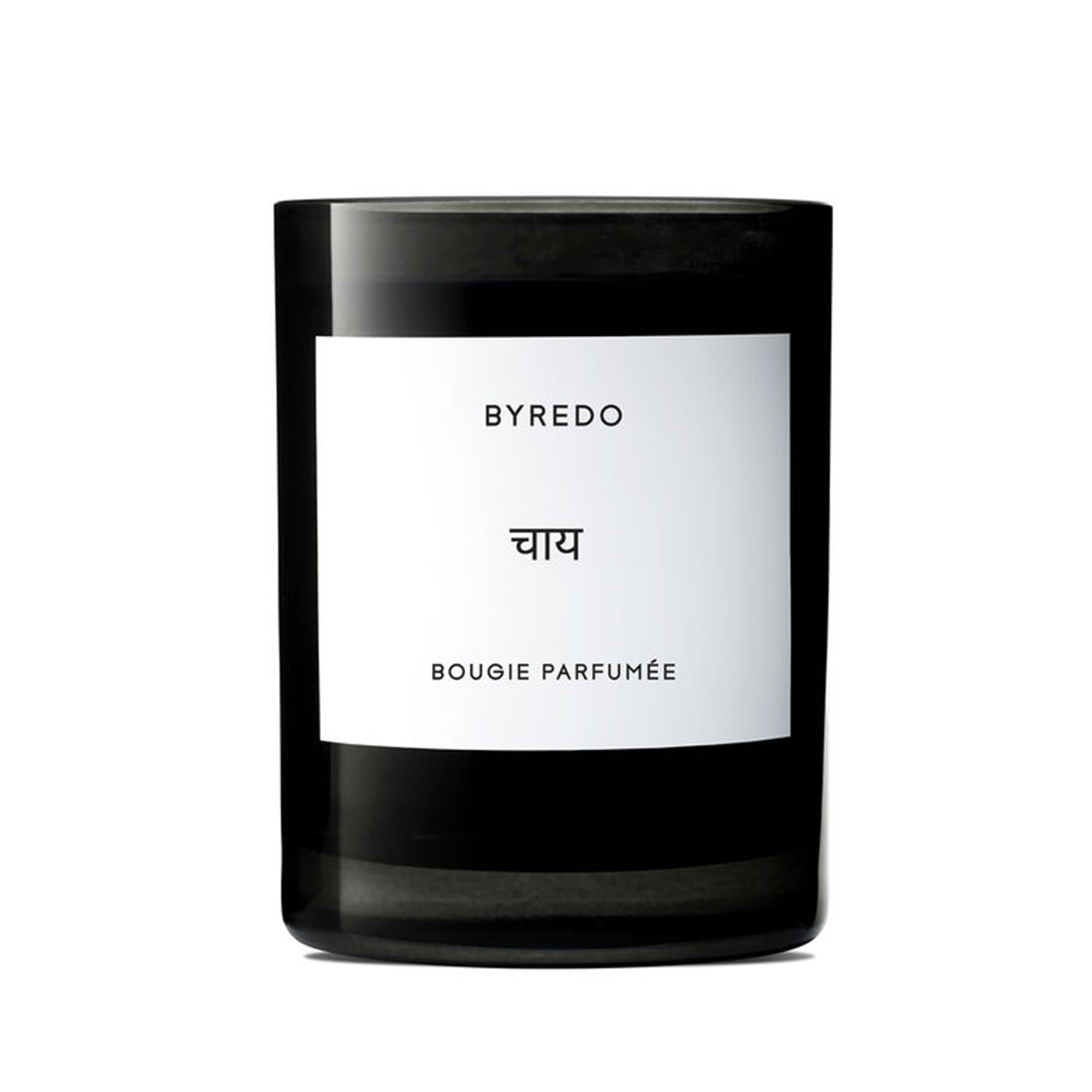 Byredo Chai Candle - Inspired by an Indian tea ritual, this latte-like aroma is equal parts sweet and spicy thanks to violet, clove, cardamom and incense. $85, spacenk.com