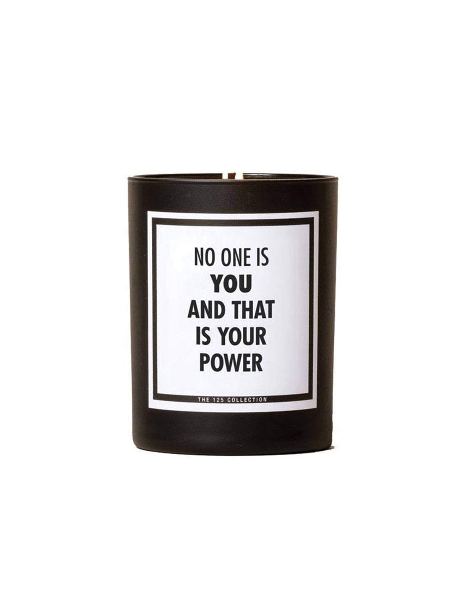 125 Collection No One Is You Candle - Perfect for hanging with you BFFs on Galentine's Day on February 13, this motivational quote-adorned soy candle comes in two scents (one birch, the other tobacco flower and vanilla and is individually poured in New York. $35, iobeautymarket.com