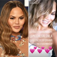 Chrissy Teigen Show Off Fresh New Hair Colors for Spring