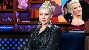 Christina Aguilera Once Tried to Kiss Pink, But Denies Taking a Swing at Her